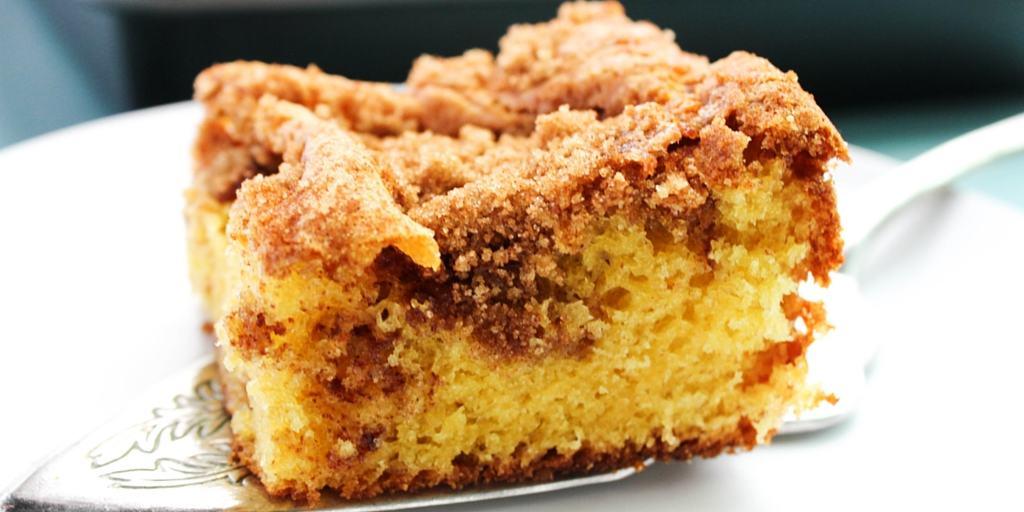 Best Ever Coffee Cake on pie server