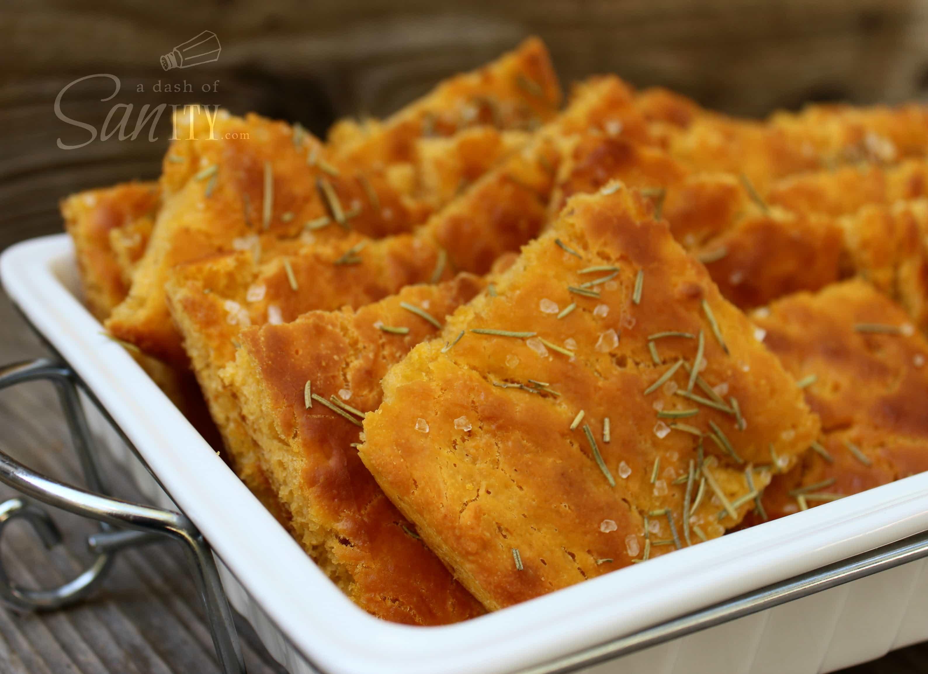 Sweet Potato Focaccia Bread