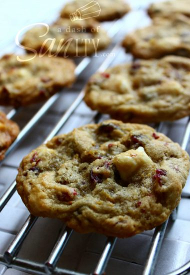 Cranberry-Orange White Chocolate & Macadamia Nut Cookies
