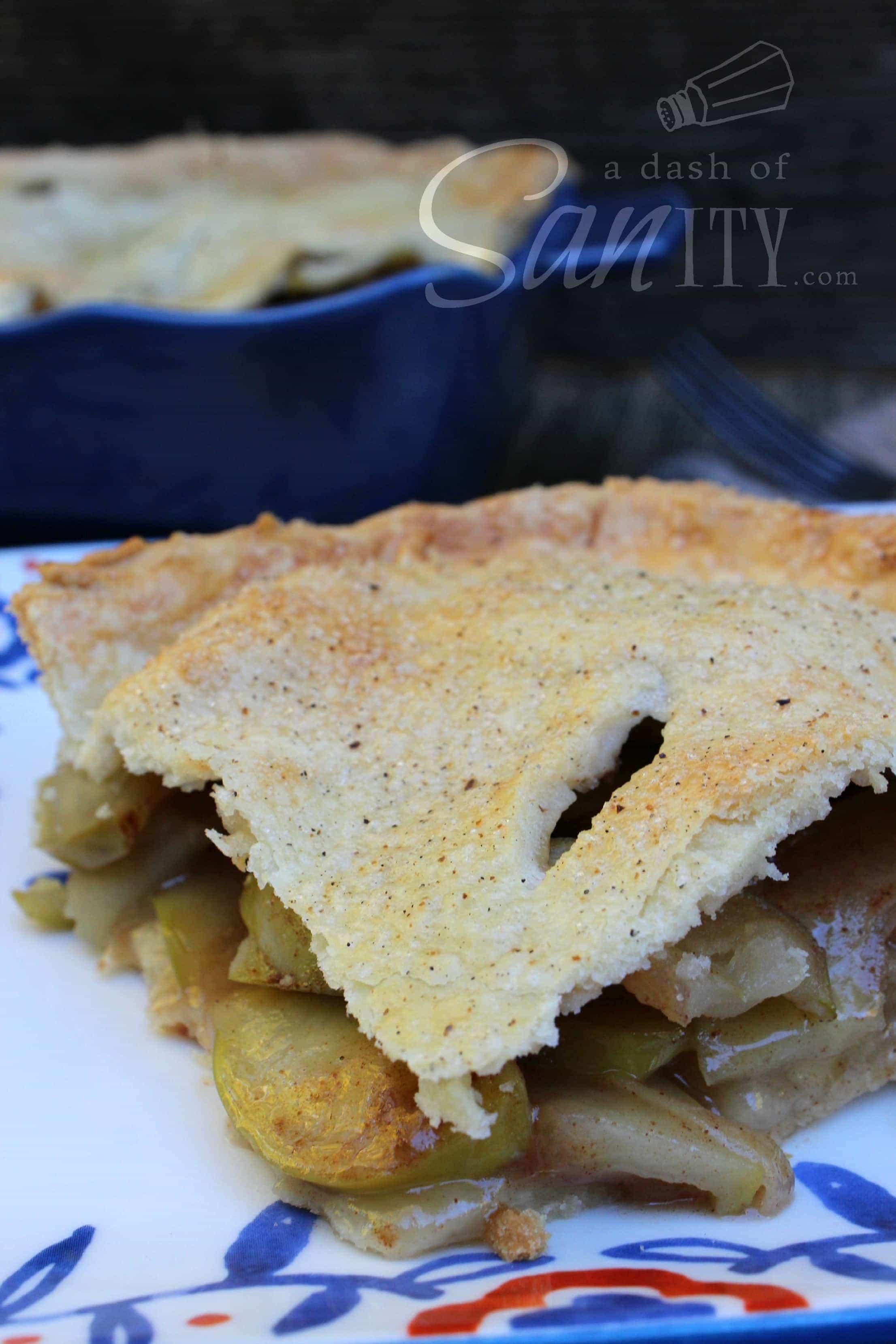 Maple Apple Pie slice served on a plate