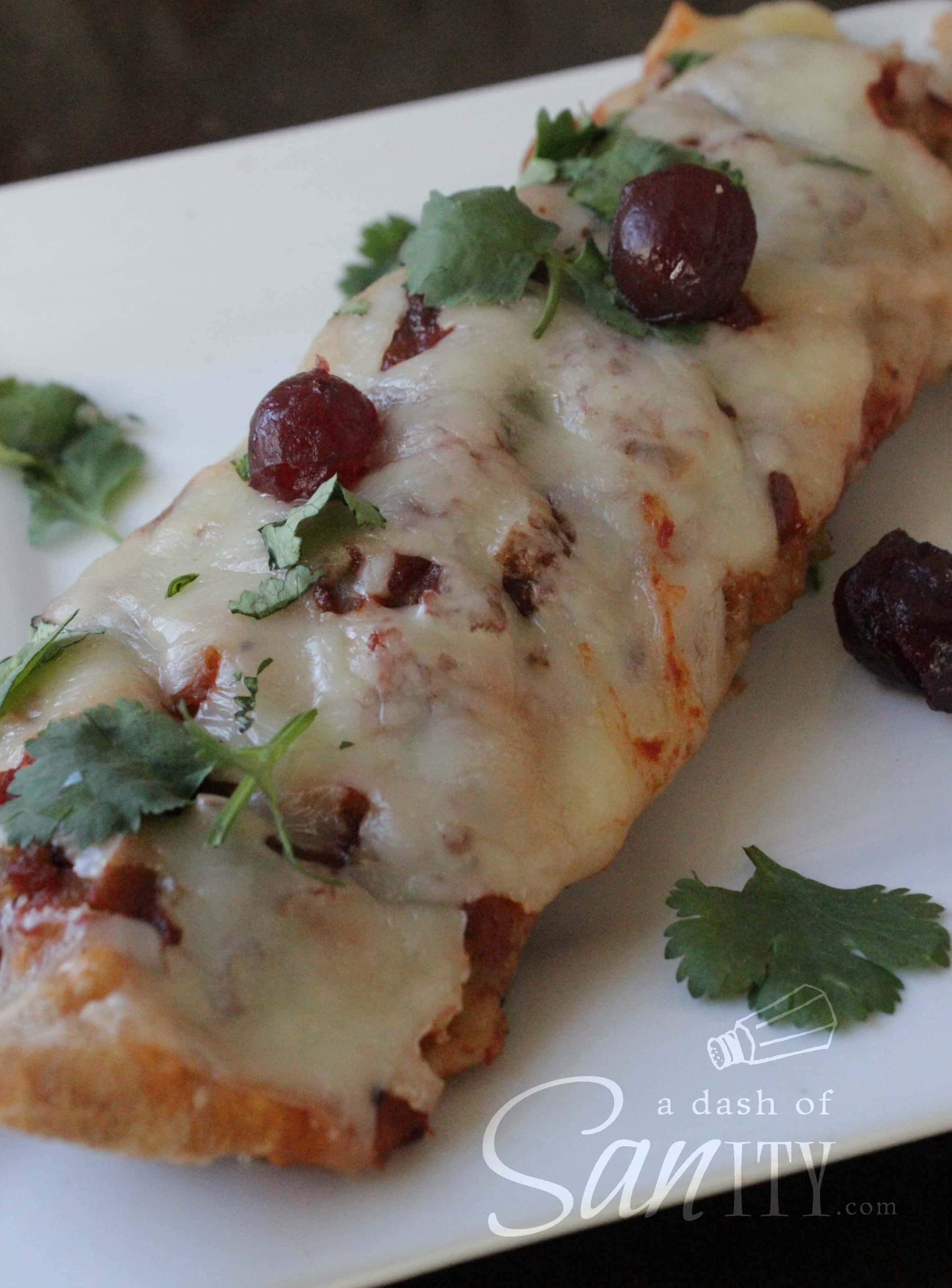 cranberry chicken or turkey enchiladas