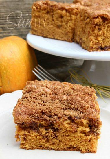 Simple Pumpkin Spiced Coffee Cake