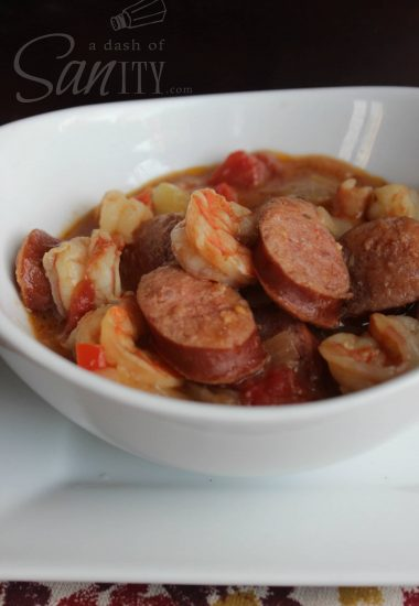 Slow Cooker Sausage & Shrimp Gumbo