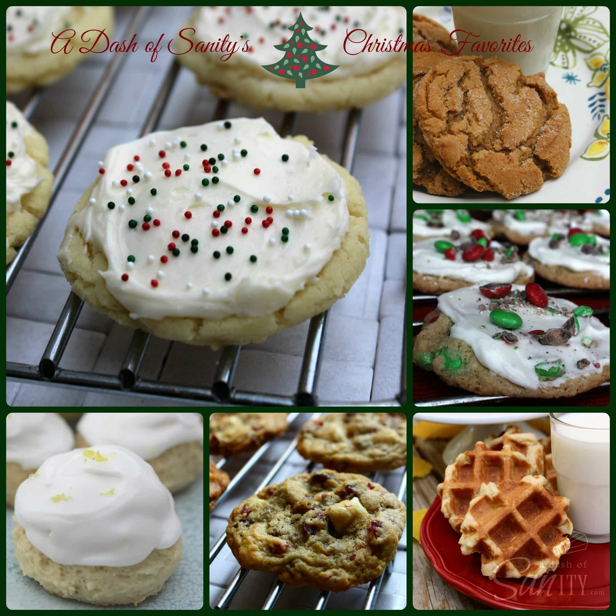 A Dash of Sanity's Christmas Cookie Favorites