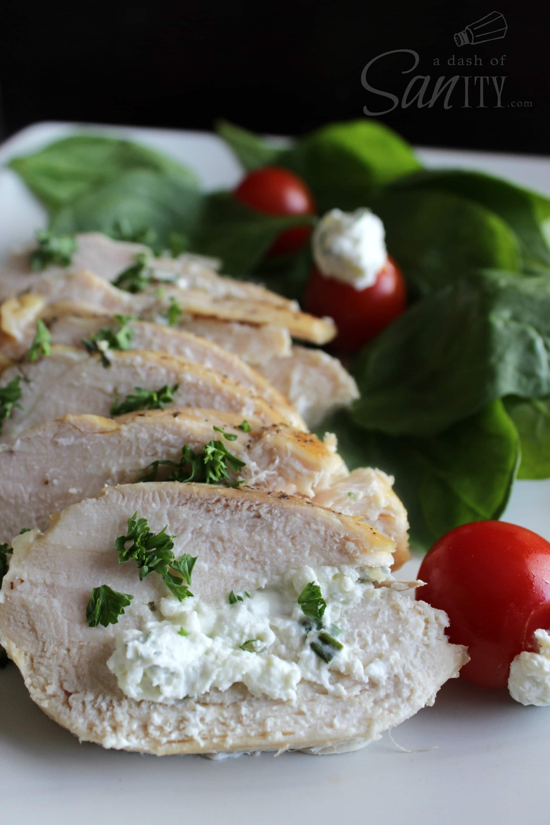 Chive & Garlic Chicken Two Ways: Stuffed Chicken Breast and Creamy ...