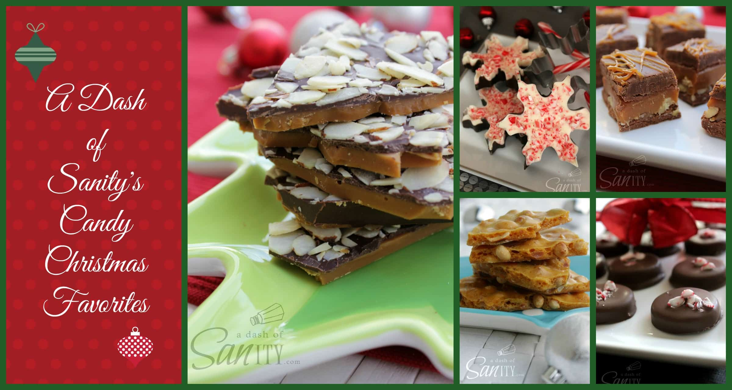 A Dash of Sanity's Christmas Candy Favorites collage
