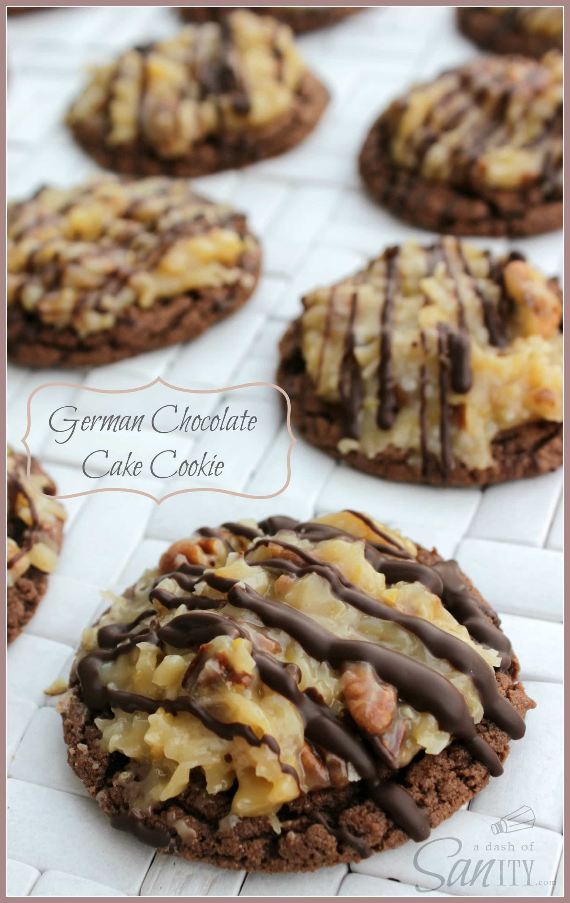 German Chocolate Cake Cookies