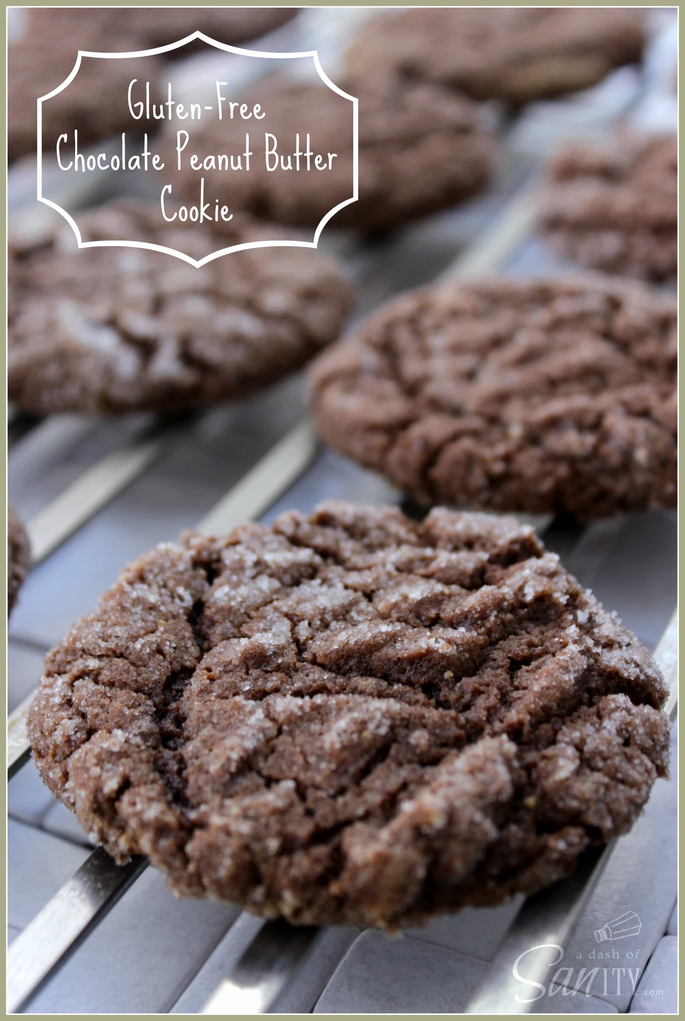 Gluten Free Chocolate Peanut Butter Cookies - soft, chewy cookie made ...