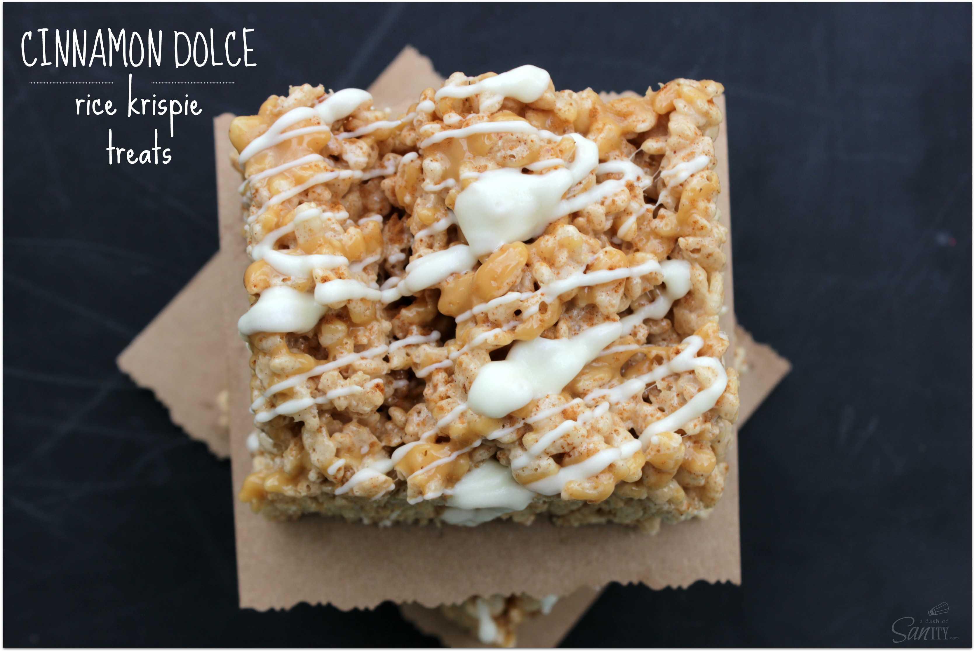 Cinnamon Dolce Rice Krispie Treat