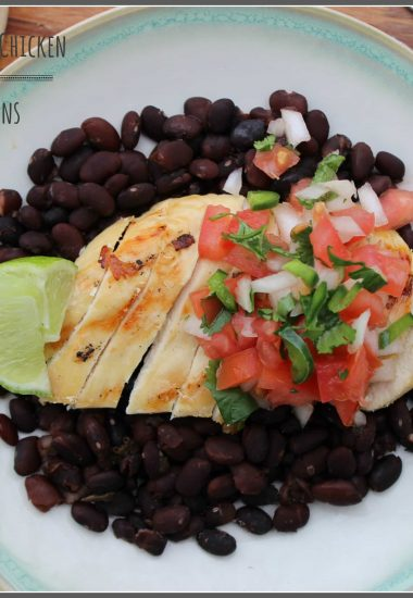 Lime Margarita Grilled Chicken and Jalapeno Black Beans