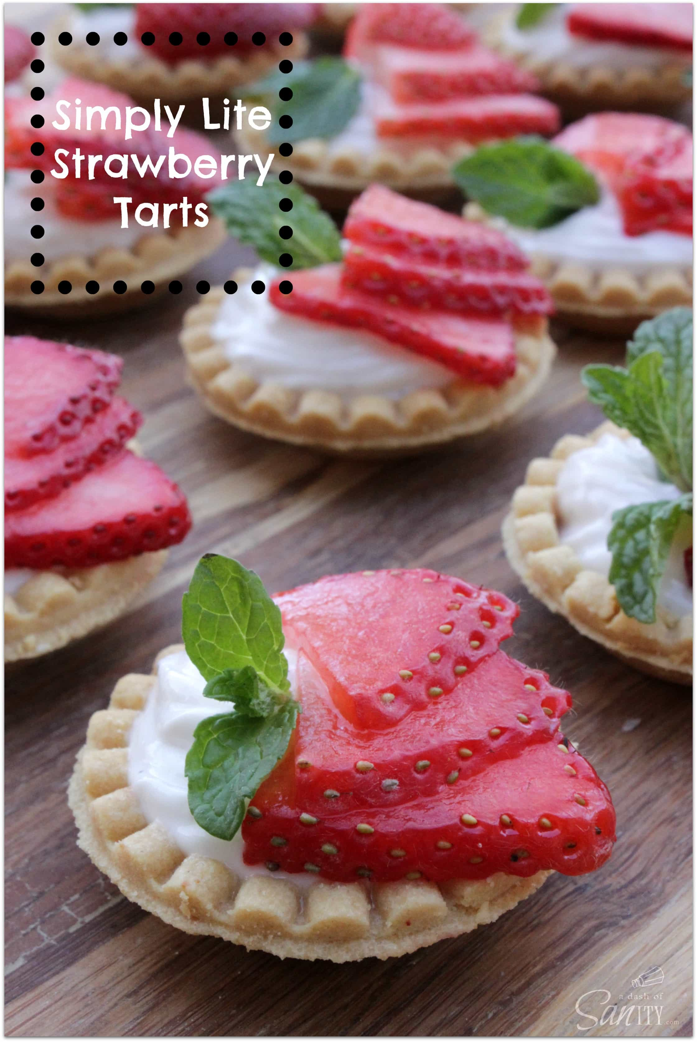 Simply Lite Strawberry Tarts