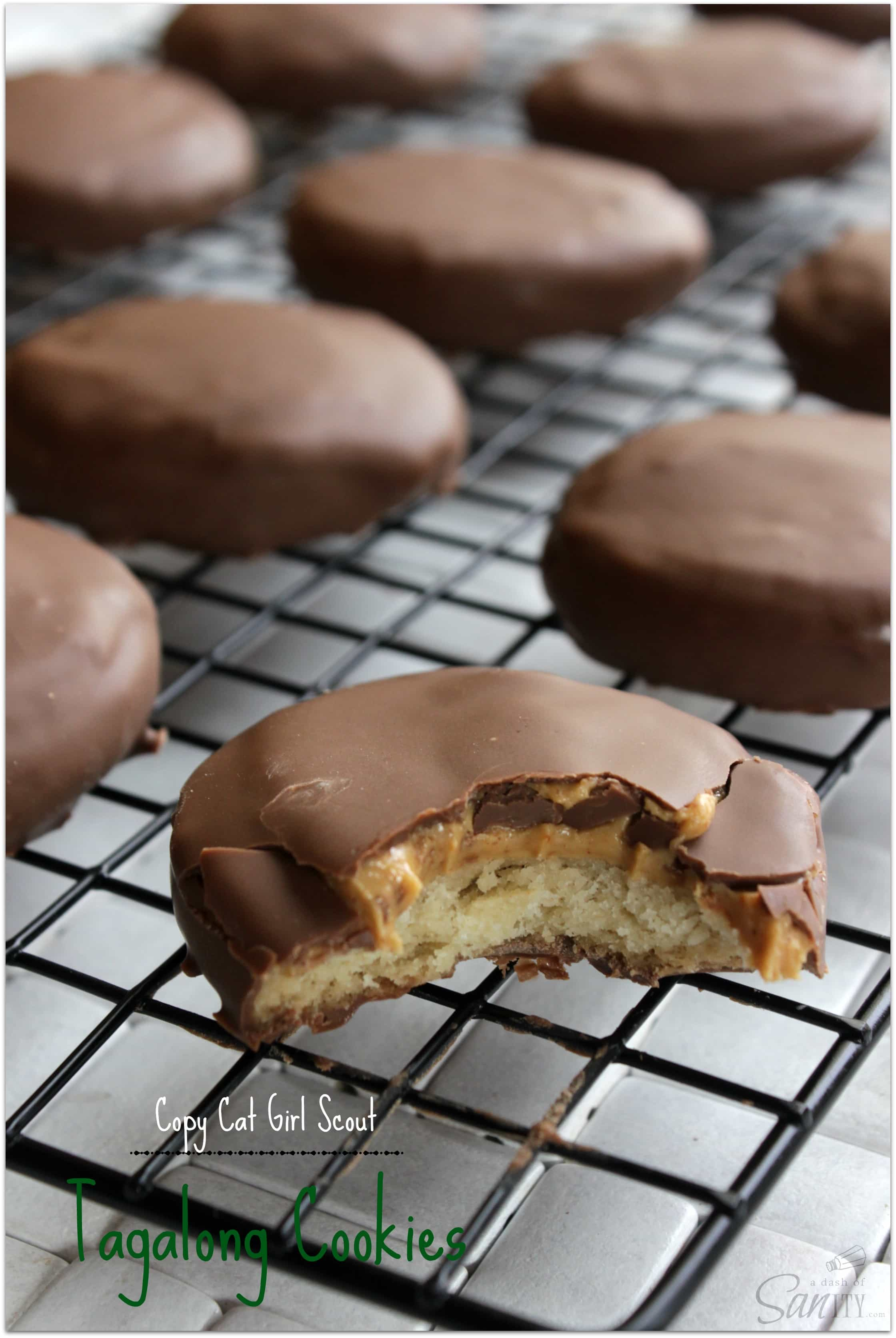 Copycat Girl Scout Tagalong Cookies - A Dash of Sanity
