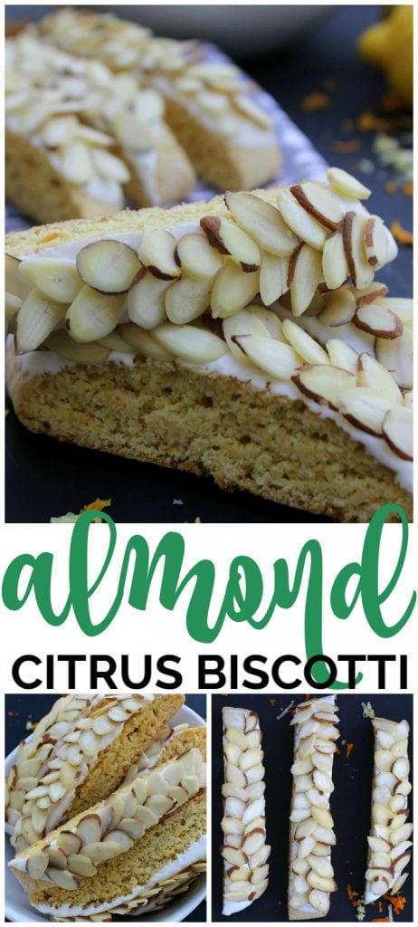 Almond Citrus Biscotti pinterest image