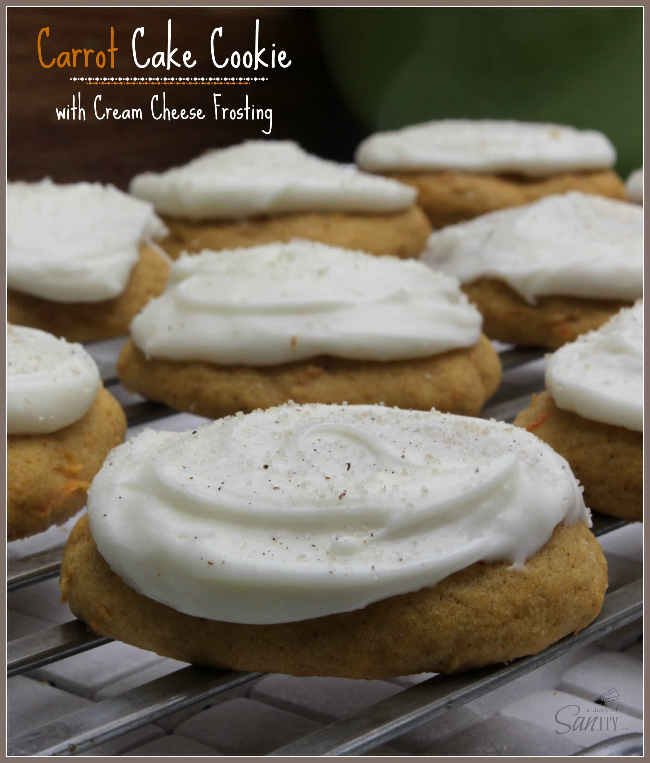 Soft Carrot Cake Cookie