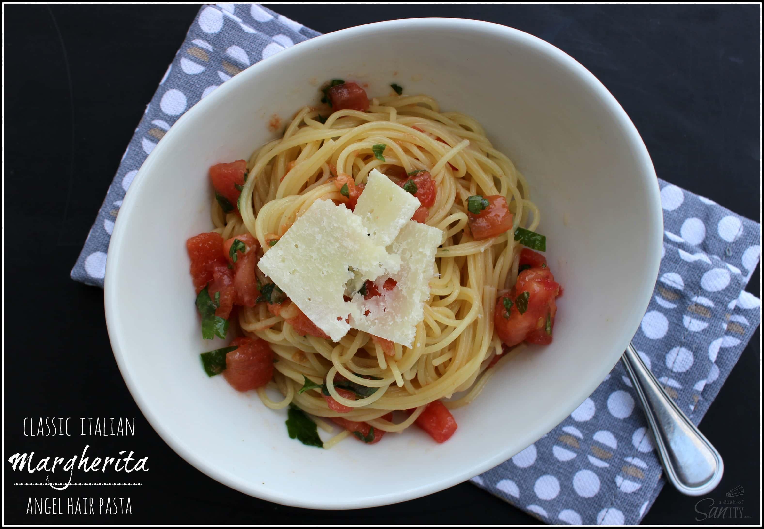 Easy pasta margherita recipe