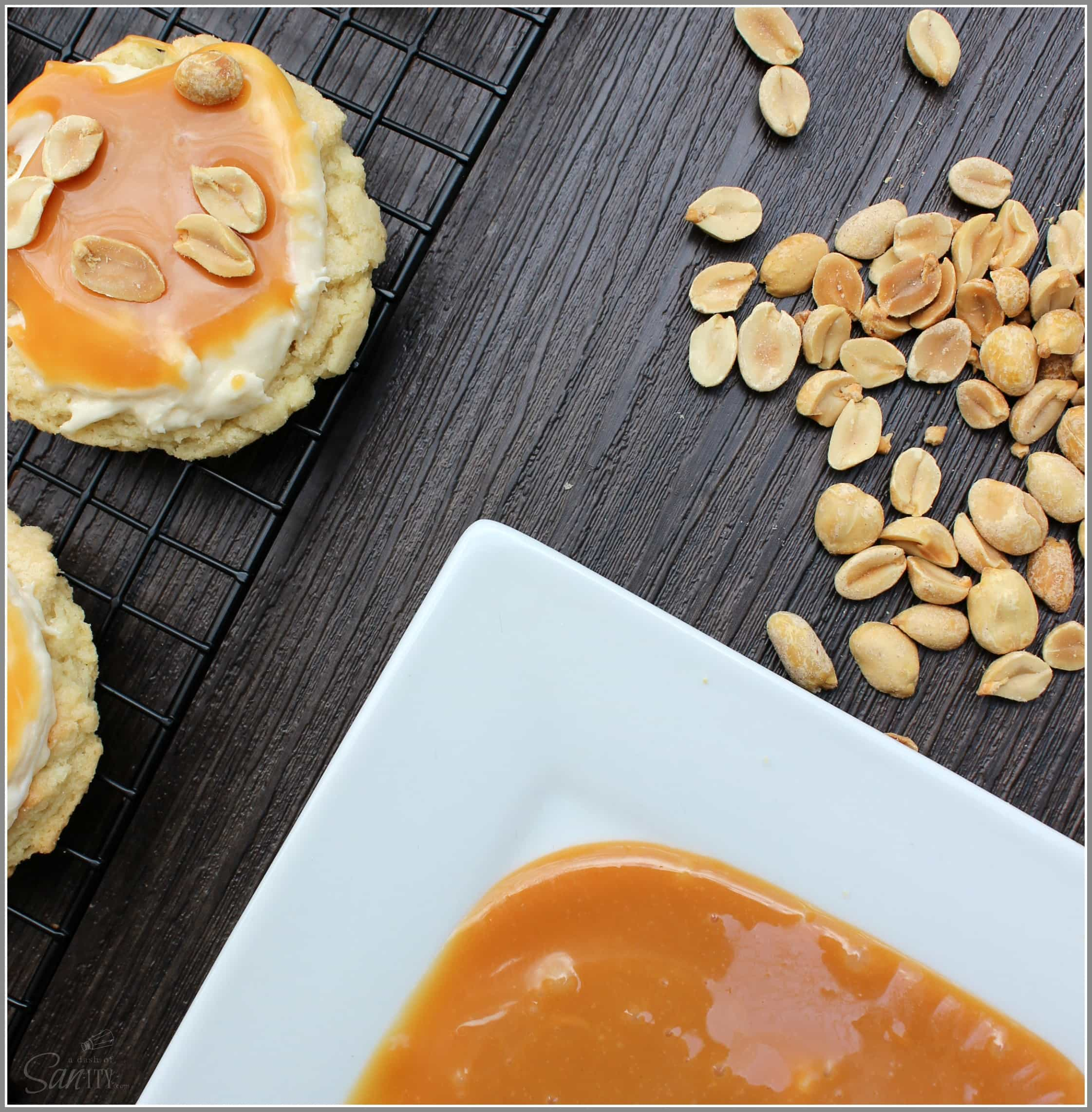 SNICKERS-doodle Cookies are a sweet combination of a classic candy bar favorite, with caramel, chocolate, peanuts, and a creamy nougat center.