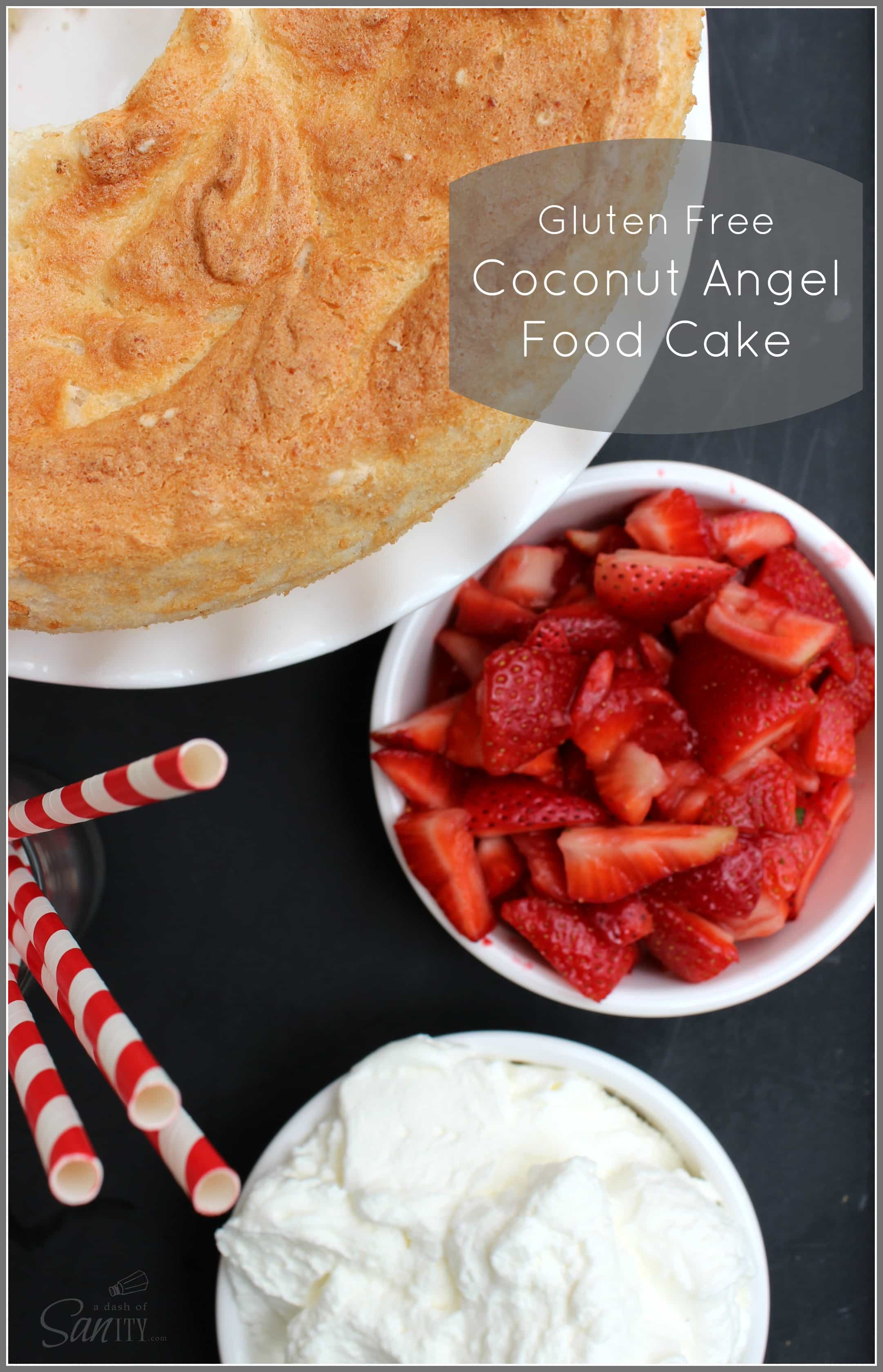 Gluten Free Coconut Angel Food Cake