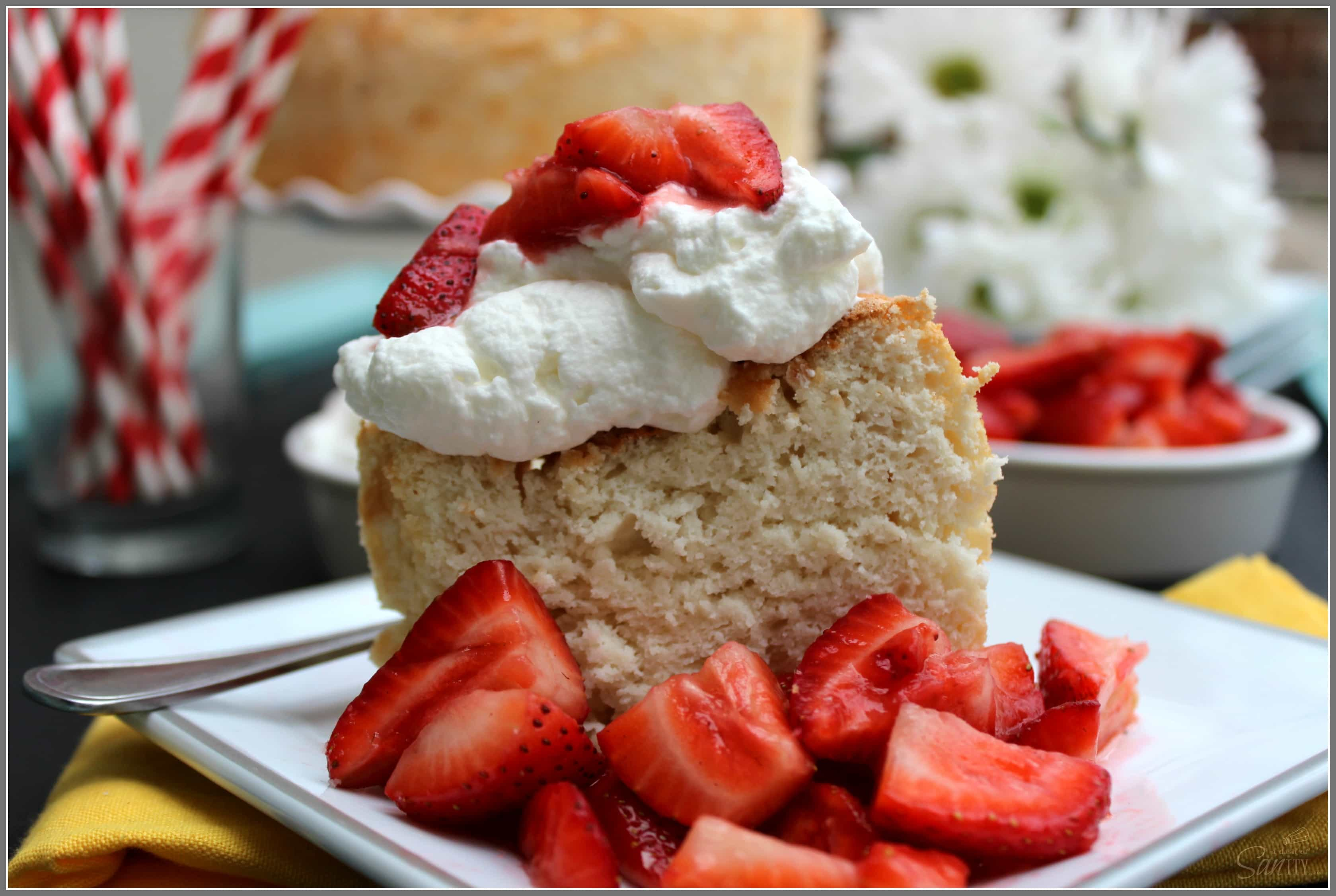 Gluten Free Coconut Angel Food Cake - A Dash of Sanity