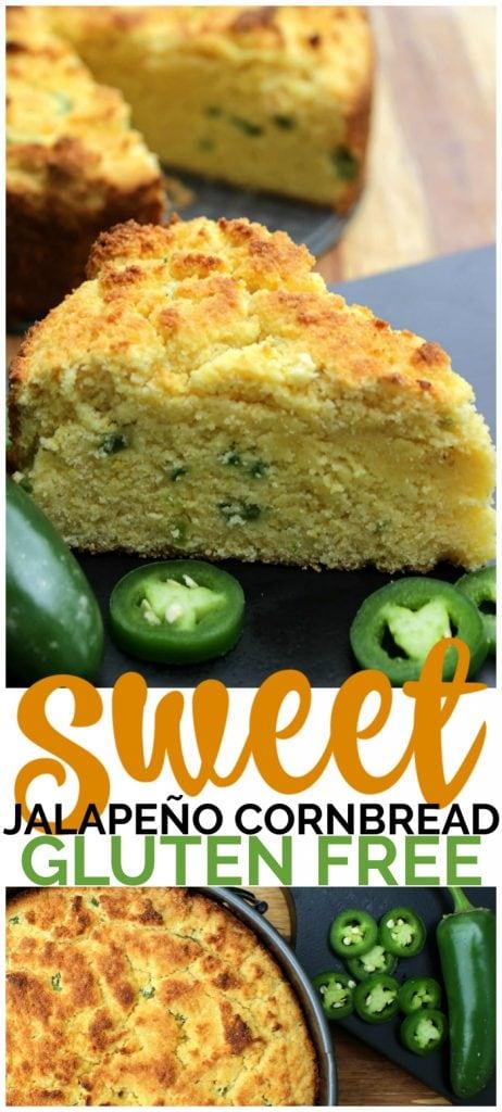 Gluten-Free Sweet Jalapeño Cornbread pinterest image
