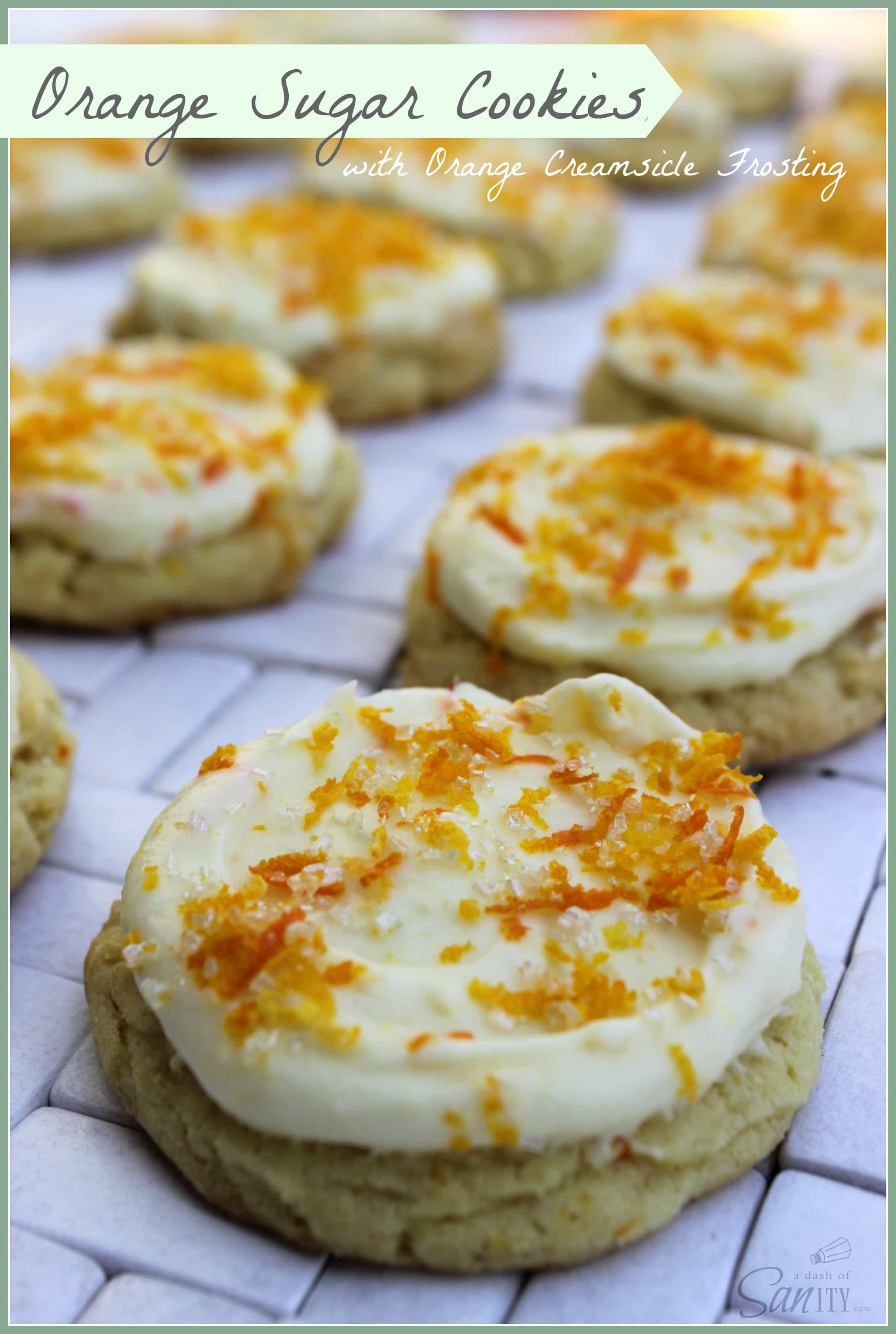 Orange Sugar Cookie with Orange Creamsicle Frosting