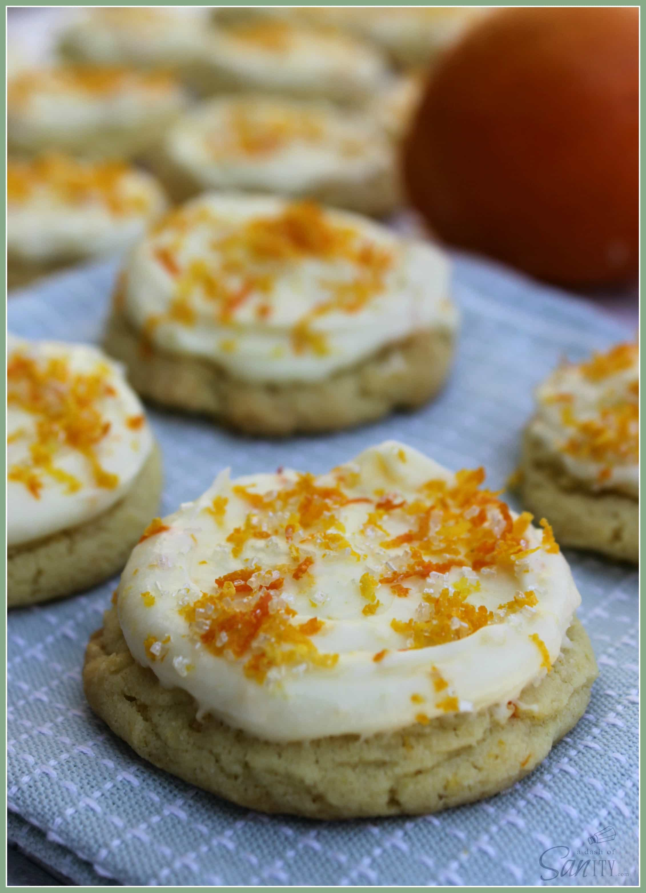 Orange Sugar Cookies with Orange Creamsicle Frosting are a refreshing twist on your average sugar cookie. They will be your new spring and summer favorite.