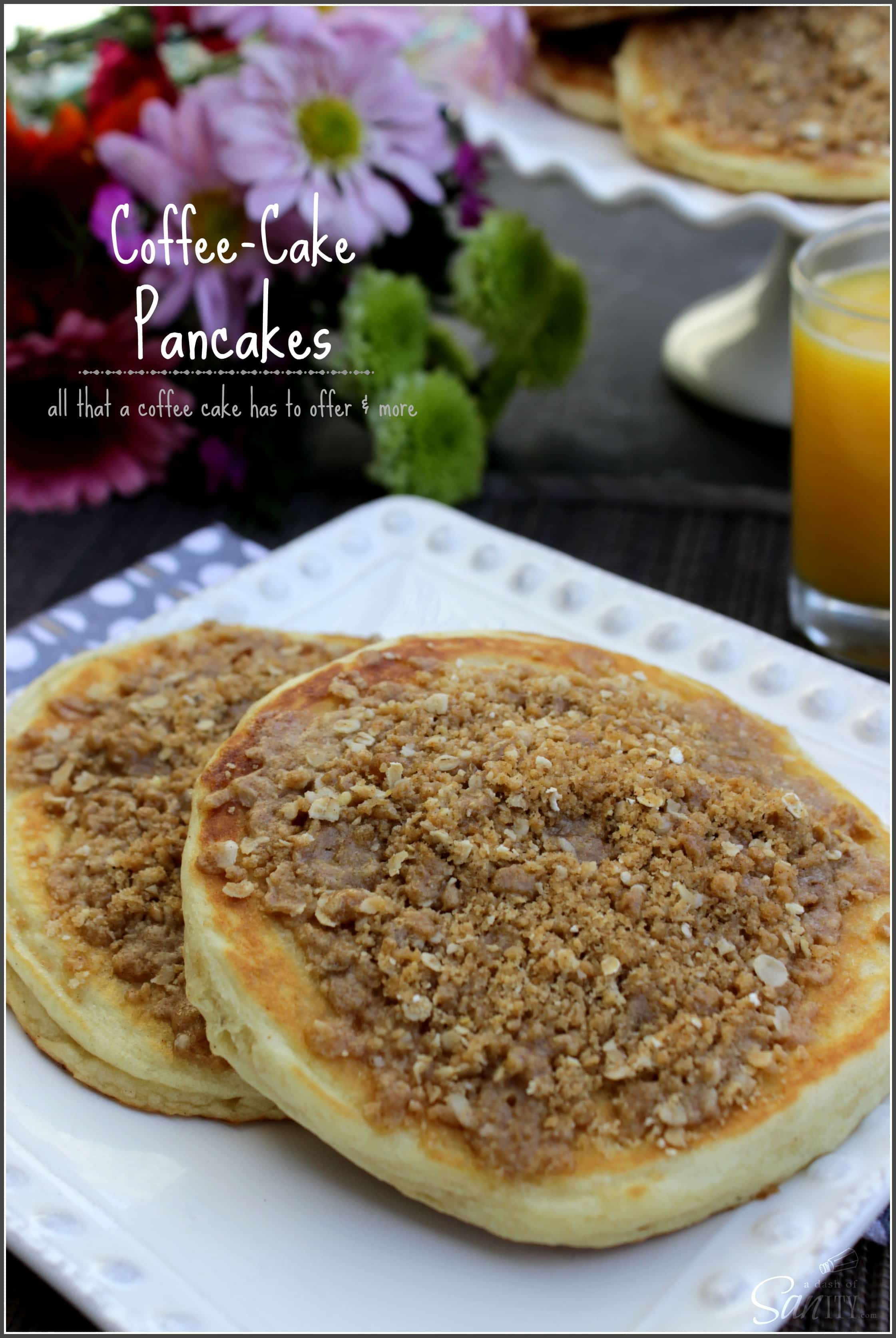 Coffee Cake Pancakes