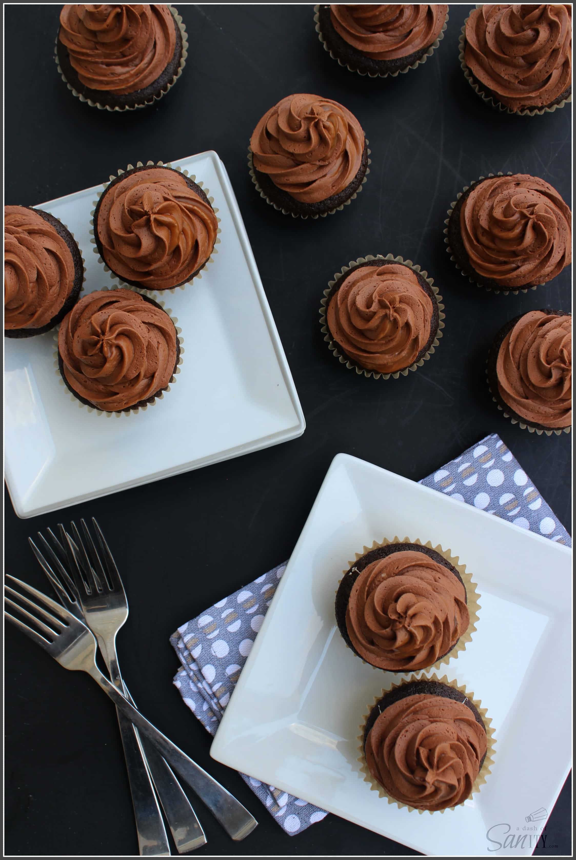 Chocolate Caramel Surprise Cupcakes