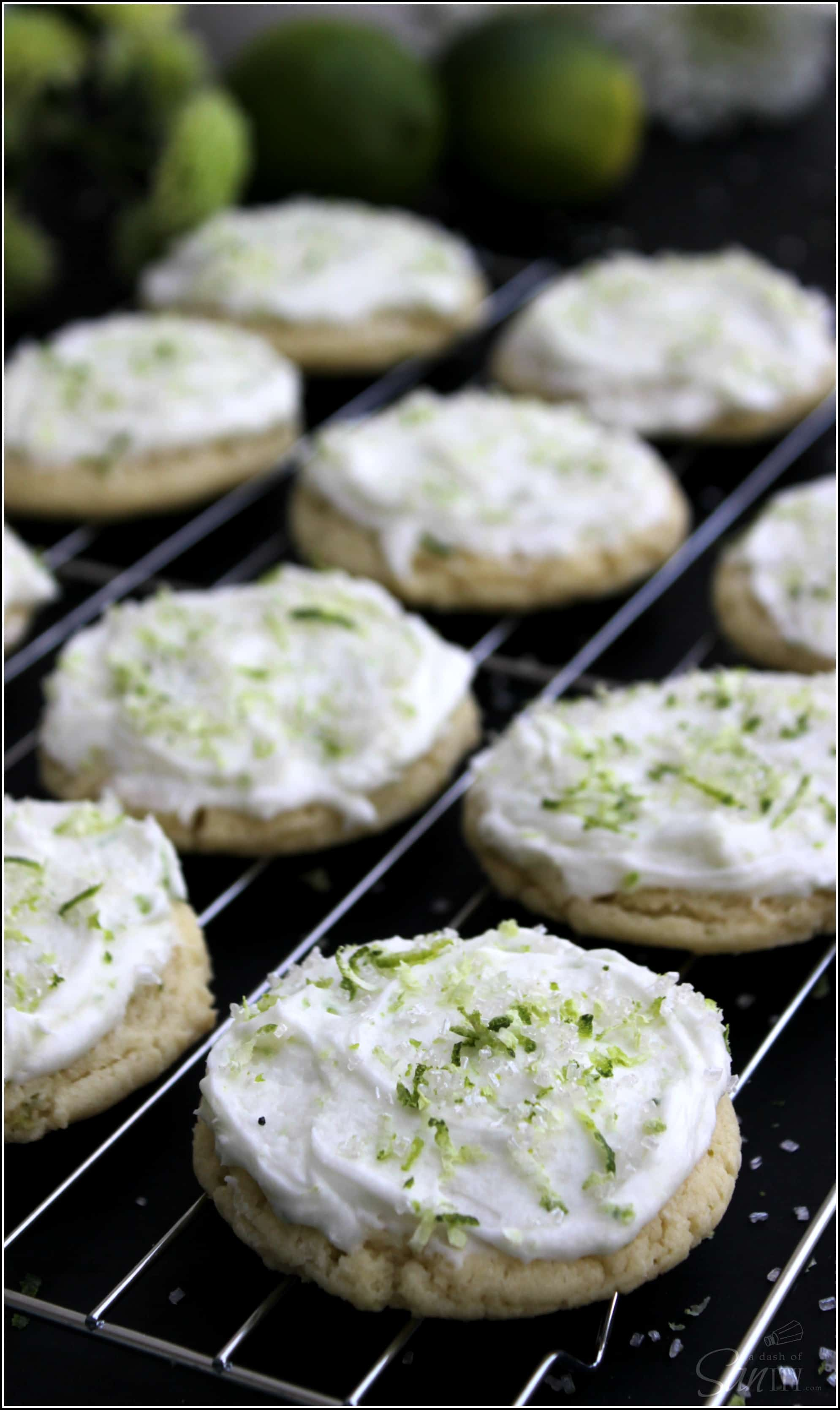 Key Lime Sugar Cookies - A Dash of Sanity