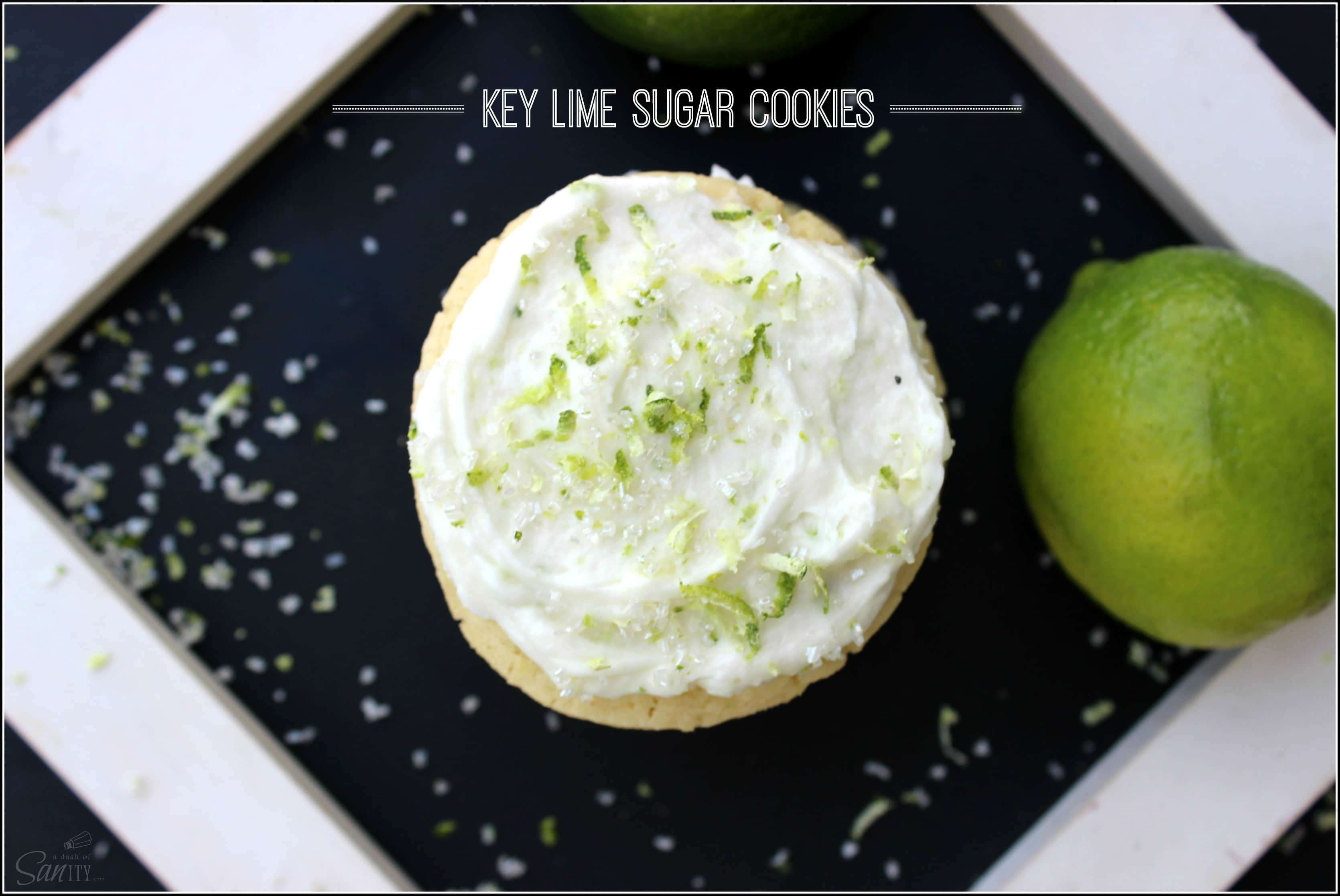 Key Lime Sugar Cookie - a key lime sugar cookie and lime buttercream ...