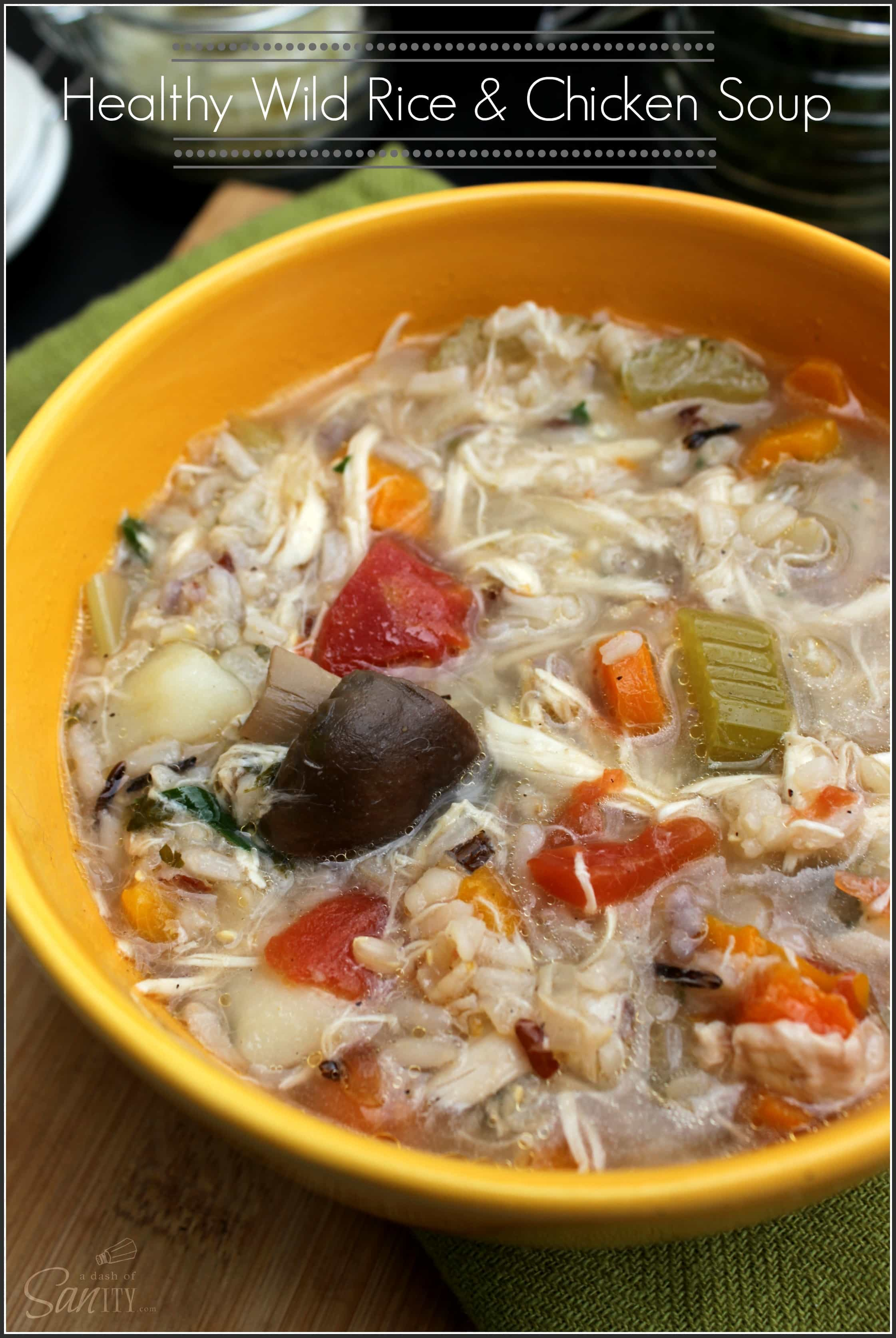 Healthy Wild Rice & Chicken Soup