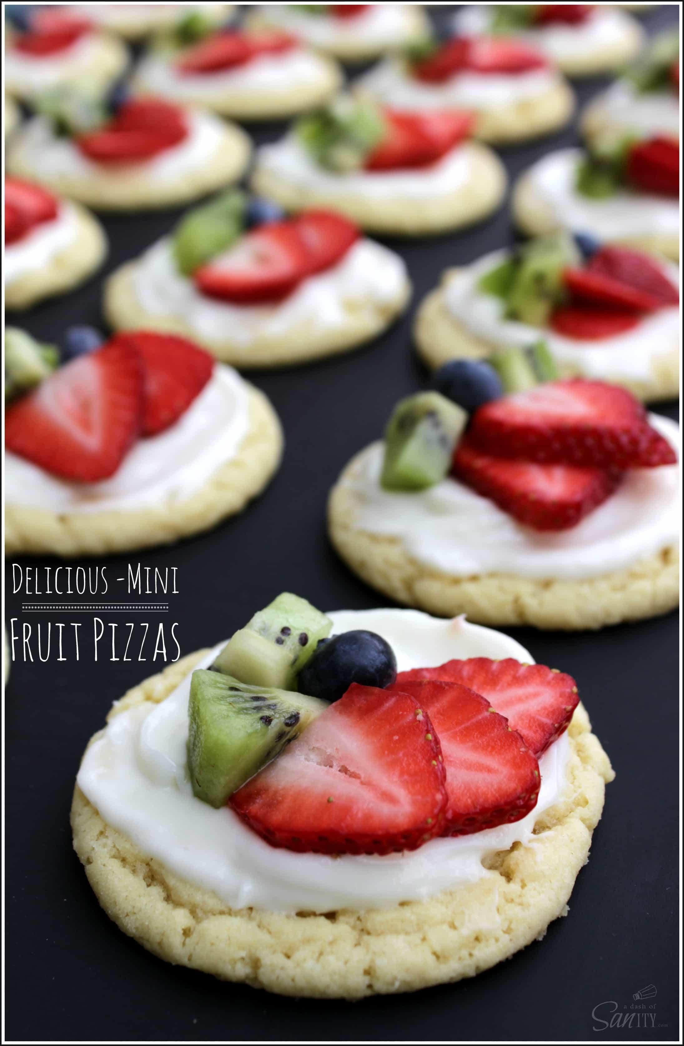 Mini Fruit Pizzas Recipe — Dishmaps