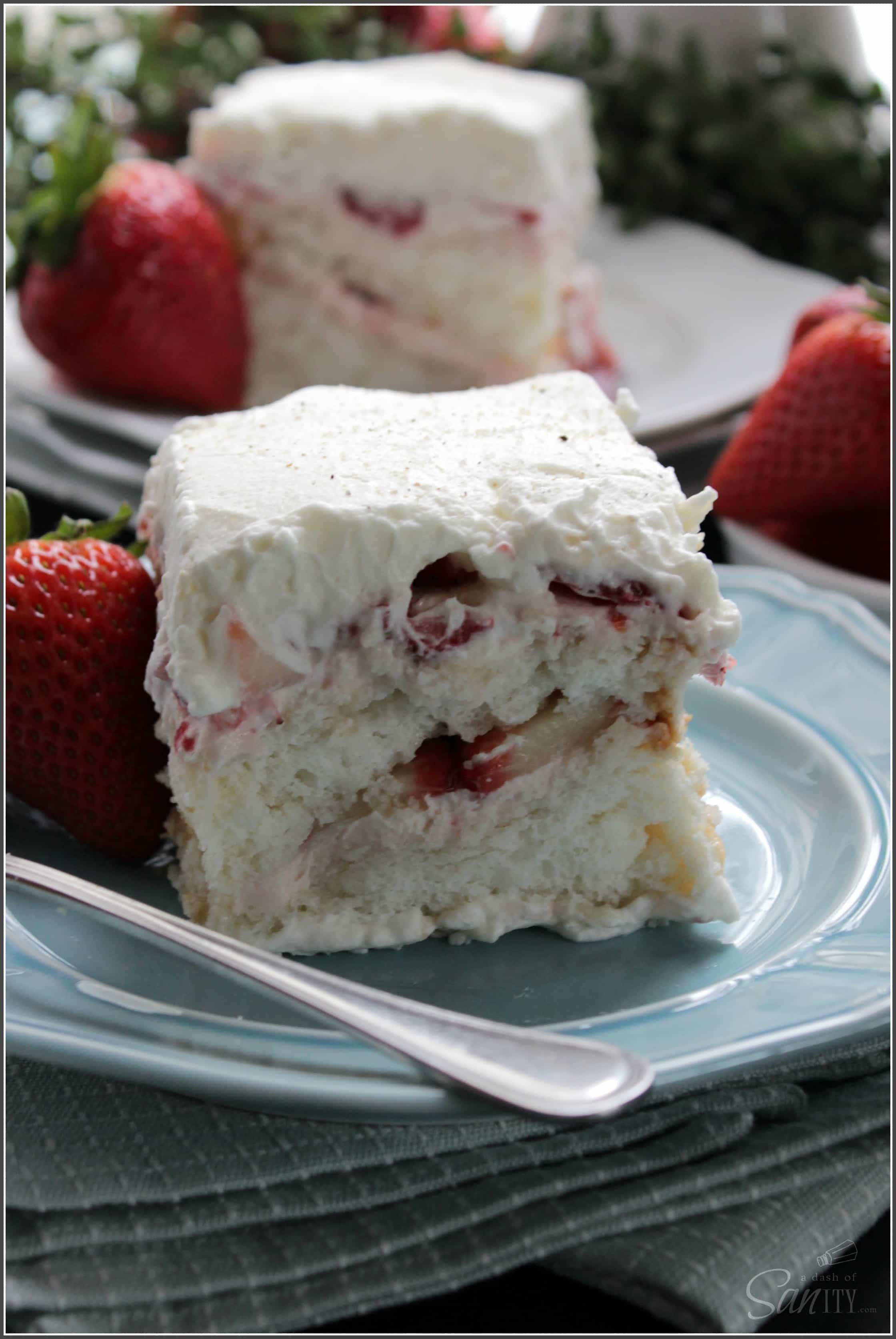 Strawberry & Angel Food Cake Tiramisu