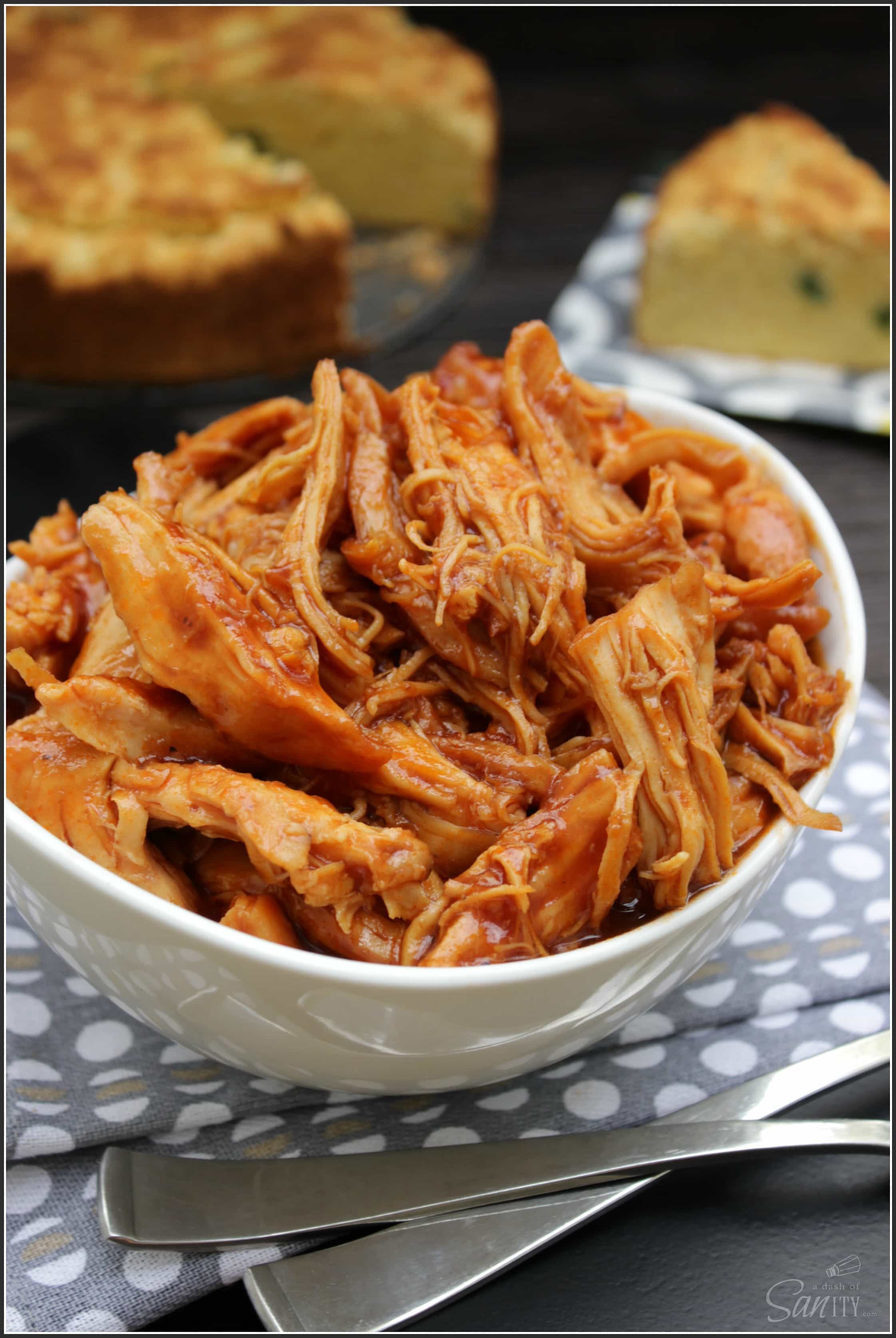 Sweet Barbecue Chicken is an easy crockpot recipe. The slow cooker leaves the chicken moist & tender. Leave the work to your crockpot, sit back & enjoy.