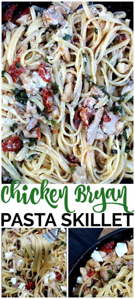 Chicken Bryan Pasta Skillet pinterest image