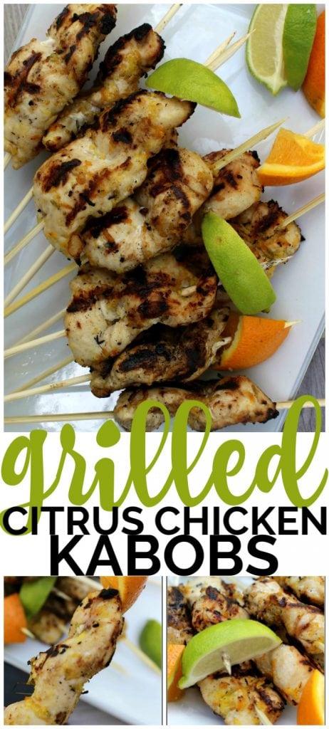 Grilled Citrus Chicken Kabobs pinterest image