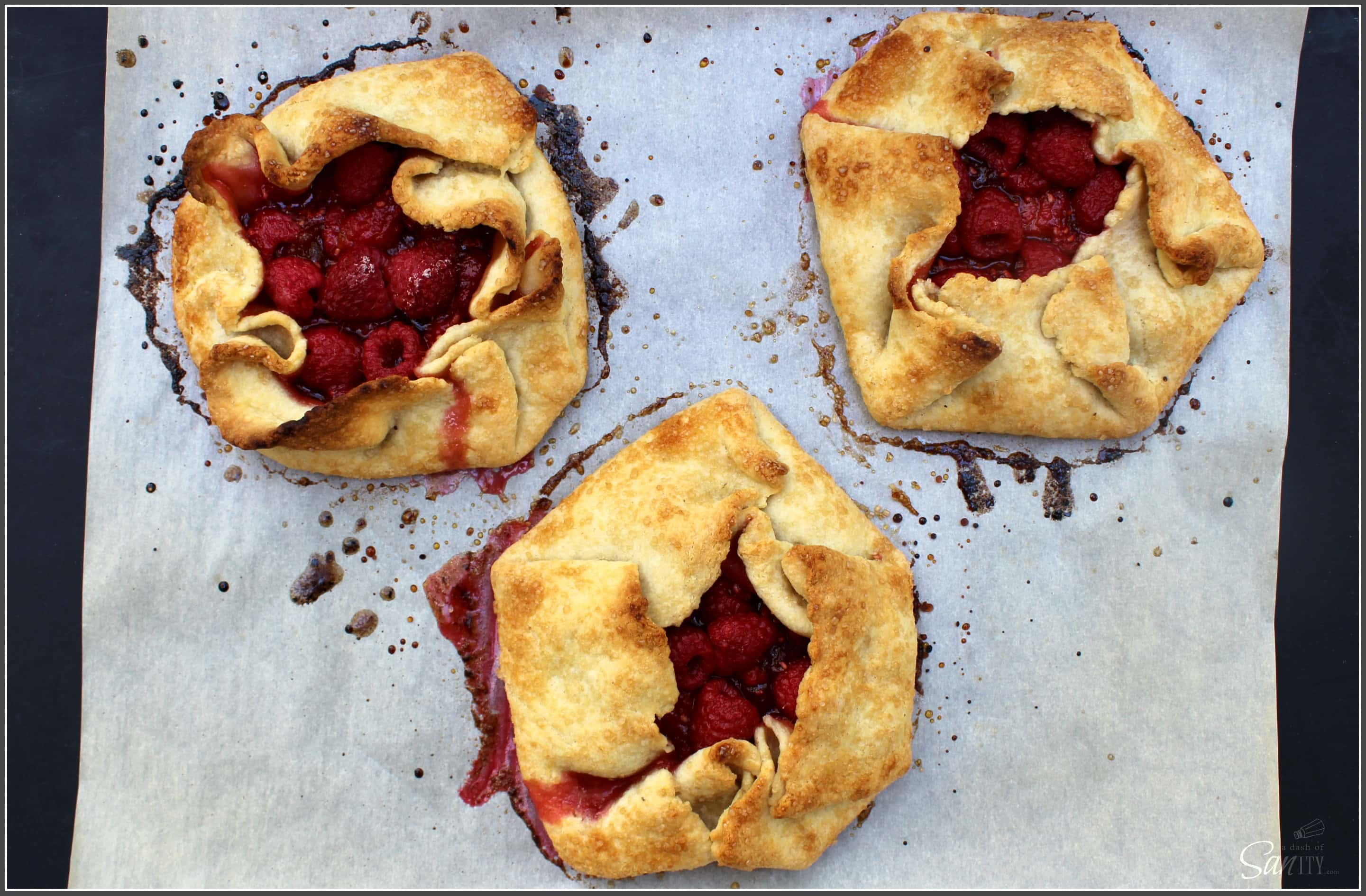 Raspberry & Peach Crostata is a simple Italian pastry filled with fresh raspberries & peach preserves. These are a perfect balance of tart and sweet.