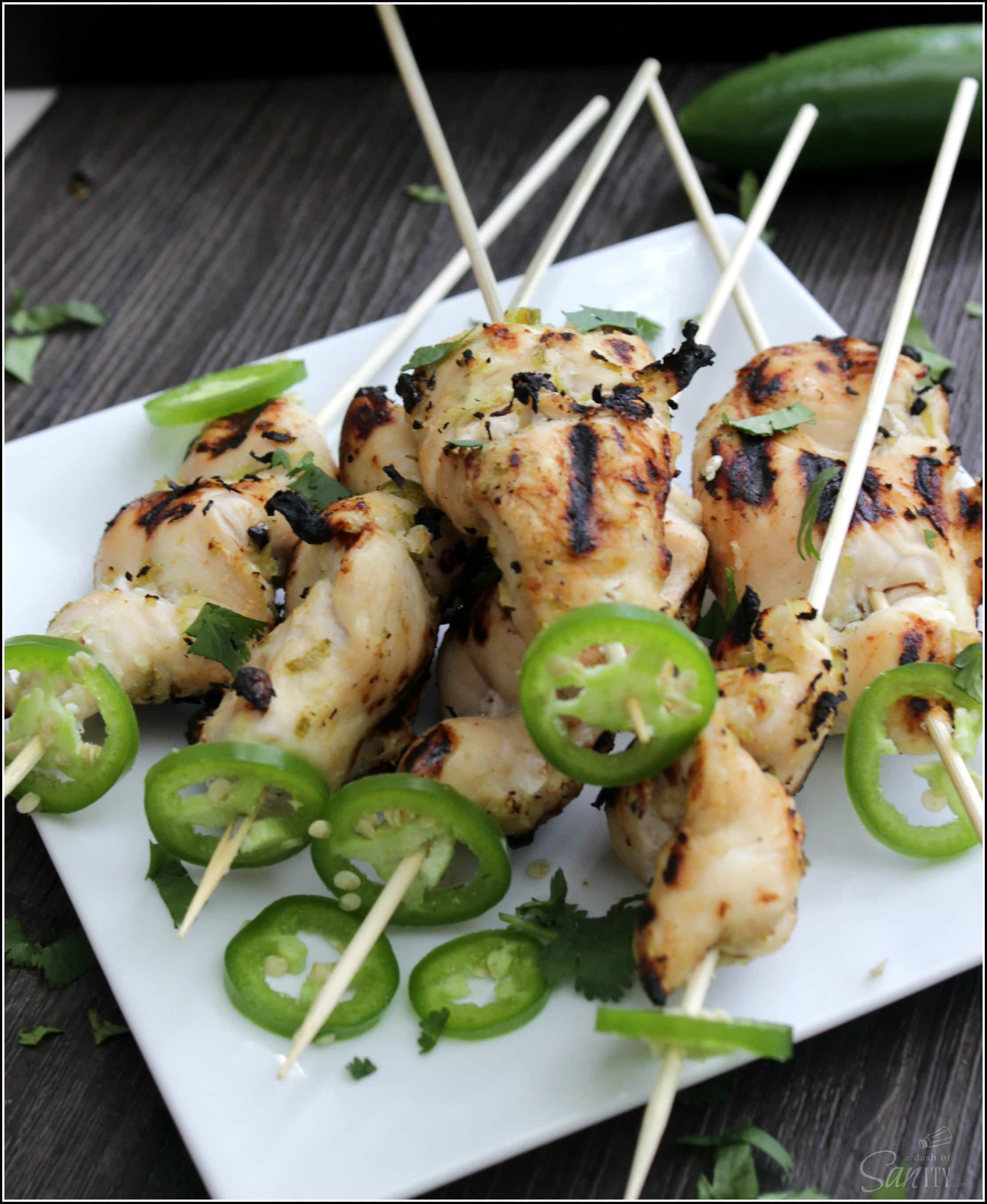 These Jalapeño-Lime Grilled Chicken Kabobs are a perfect balance of sweet and spicy. This recipe is a must have for you and your grill this summer.
