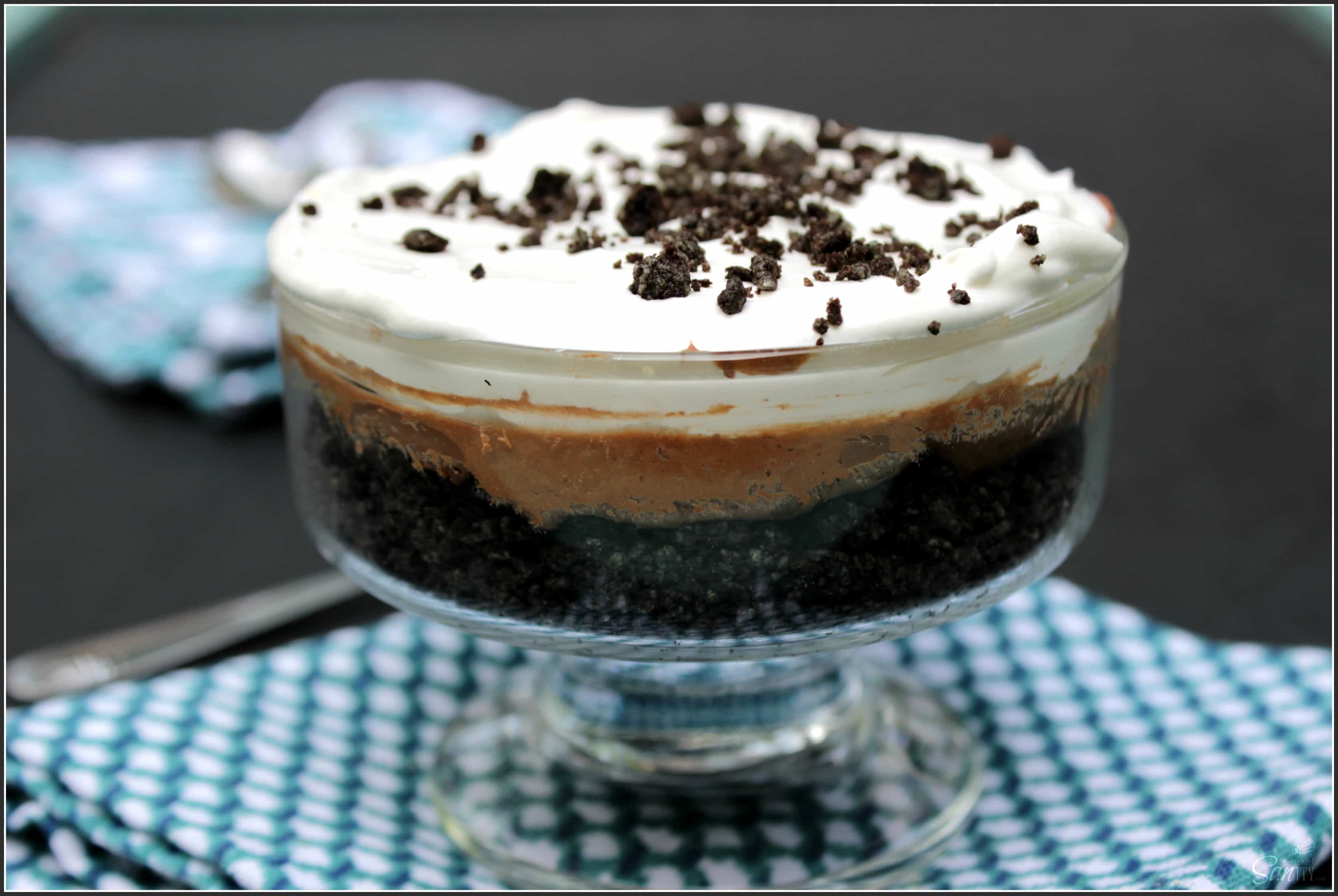 No Bake Chocolate Mint Oreo Cheesecake - A Dash of Sanity
