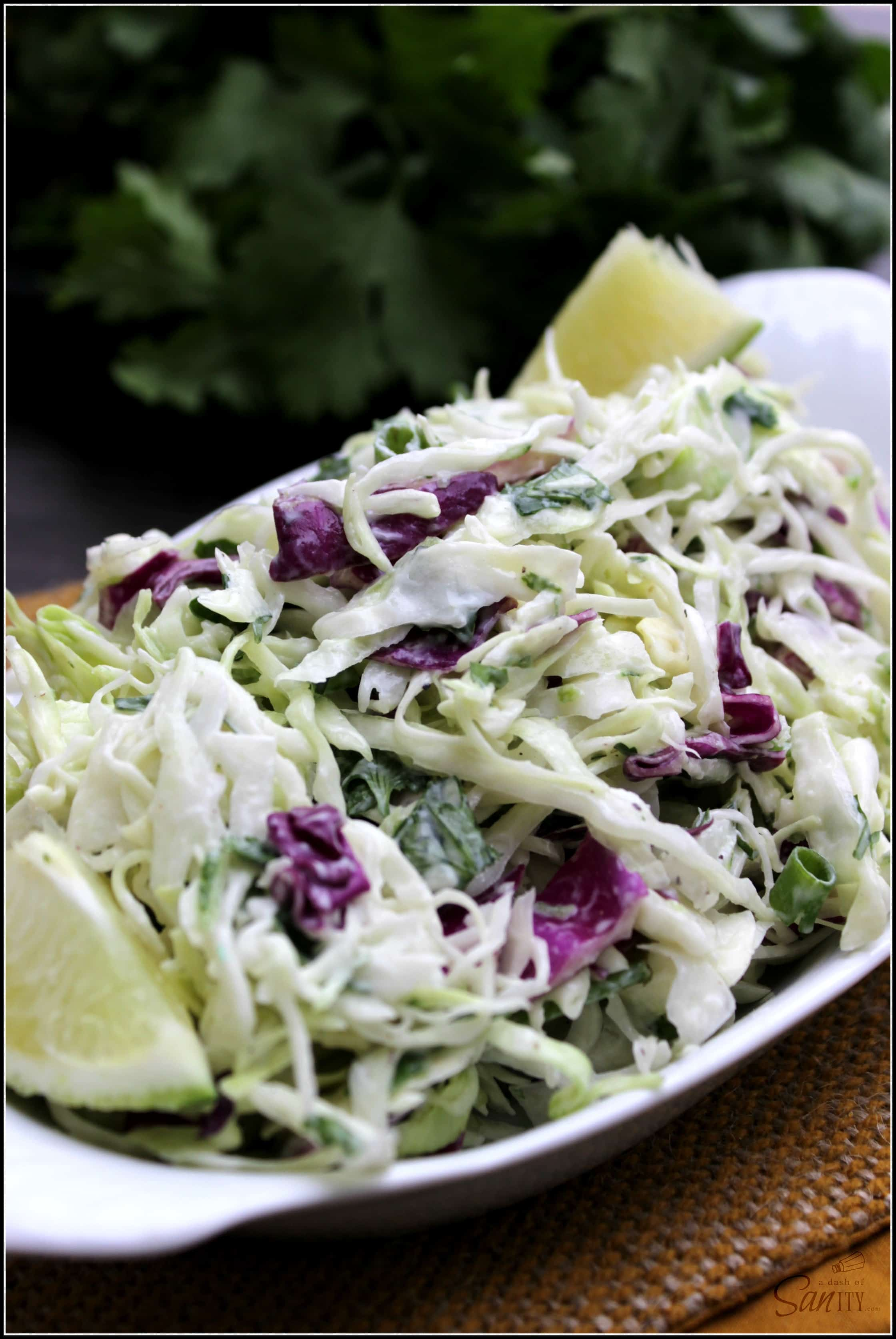 Cilantro Lime Coleslaw A Dash Of Sanity