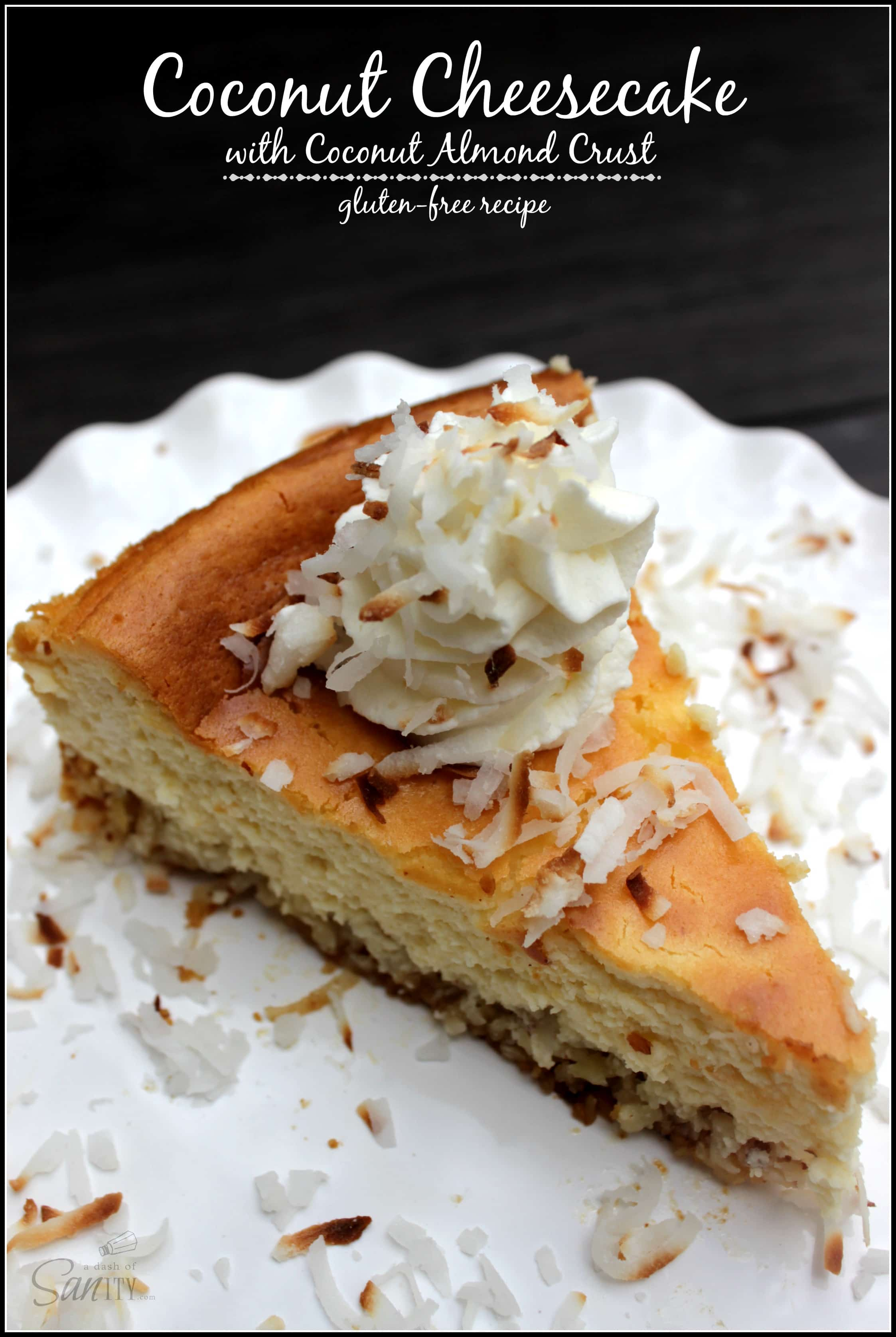 Coconut Cheesecake with Coconut Almond Crust & $550 Amazon Gift Card Giveaway!