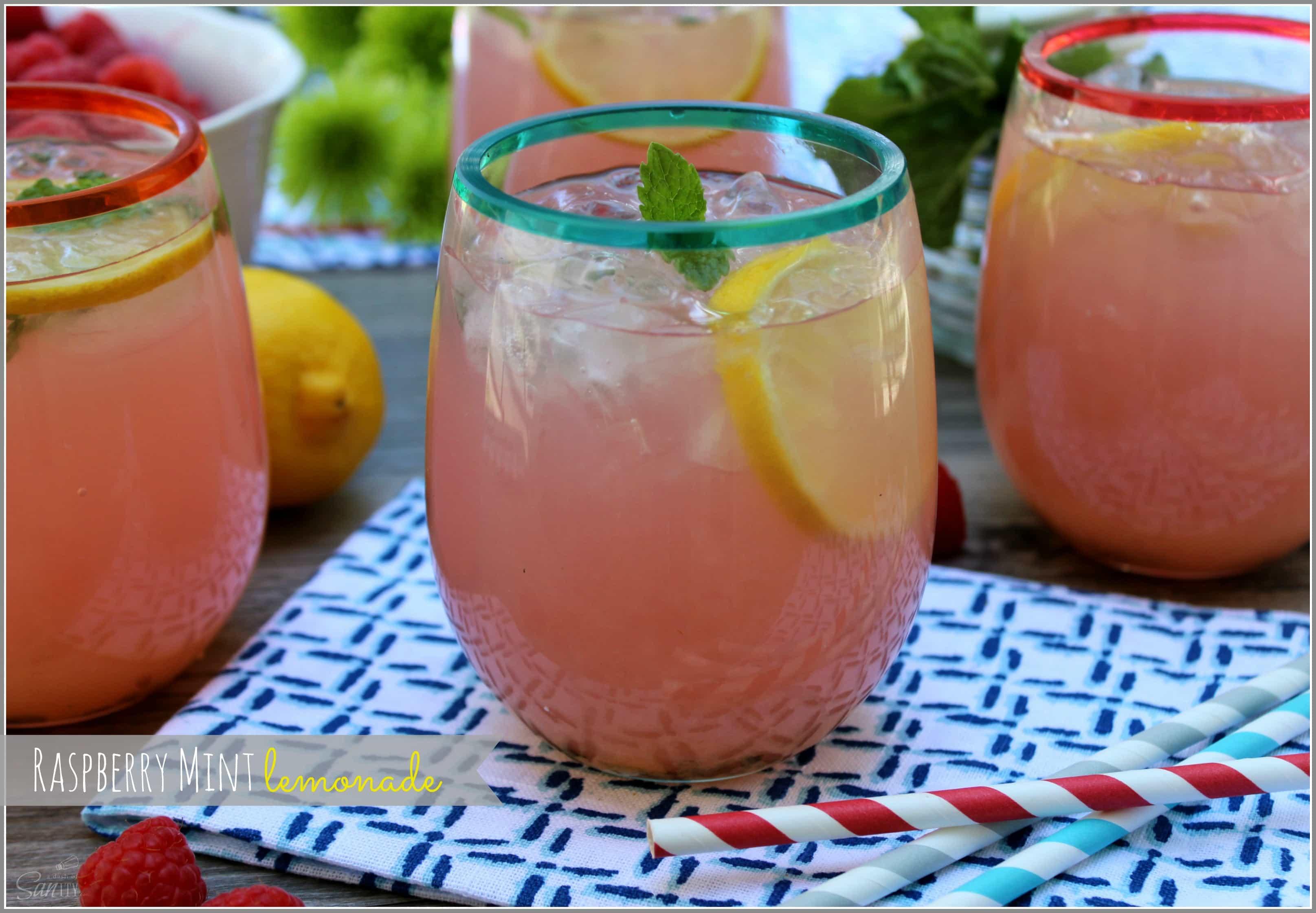 Raspberry Mint Lemonade | Girls Night In