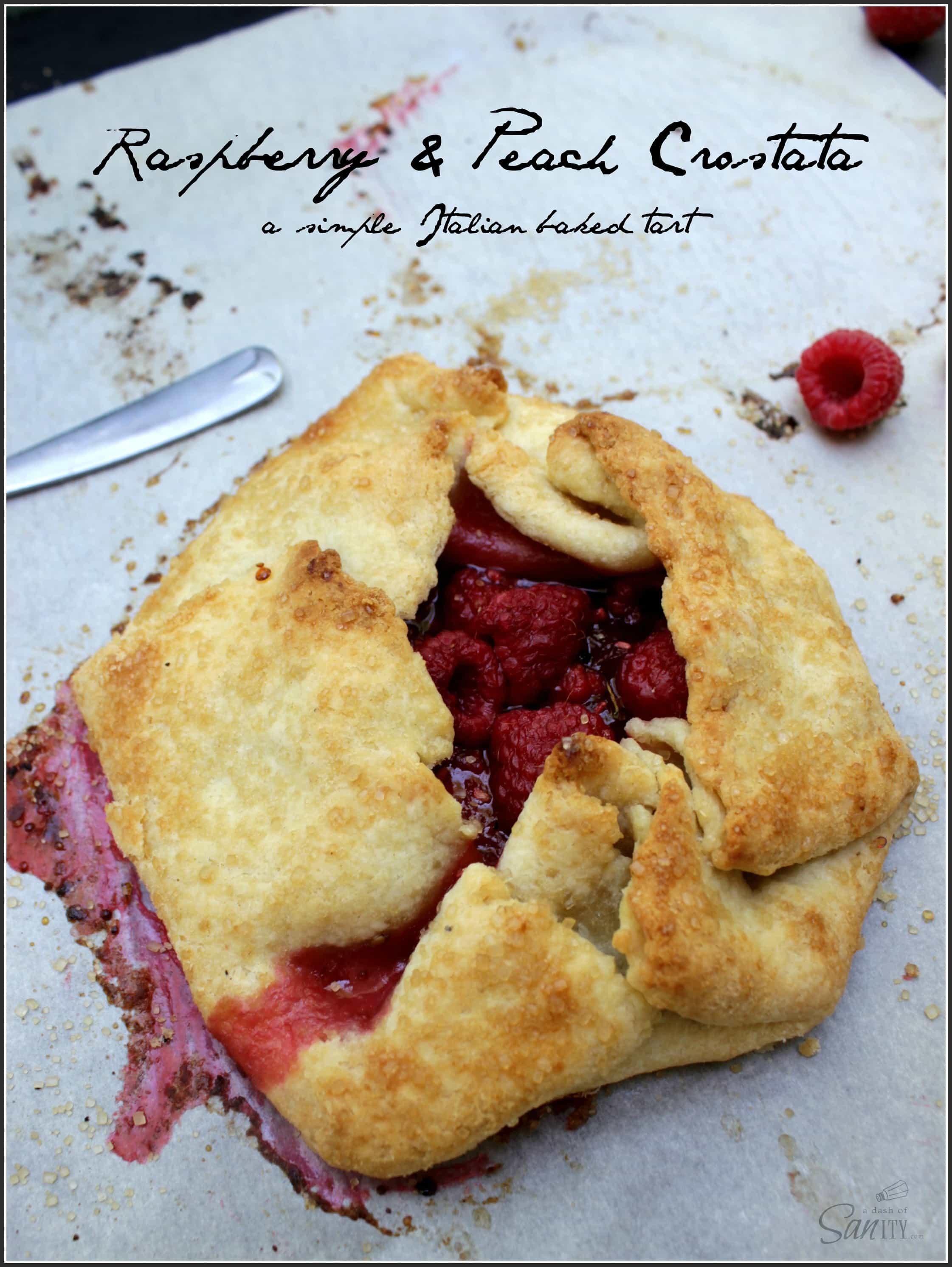 Raspberry & Peach Crostata | a simple Italian pastry