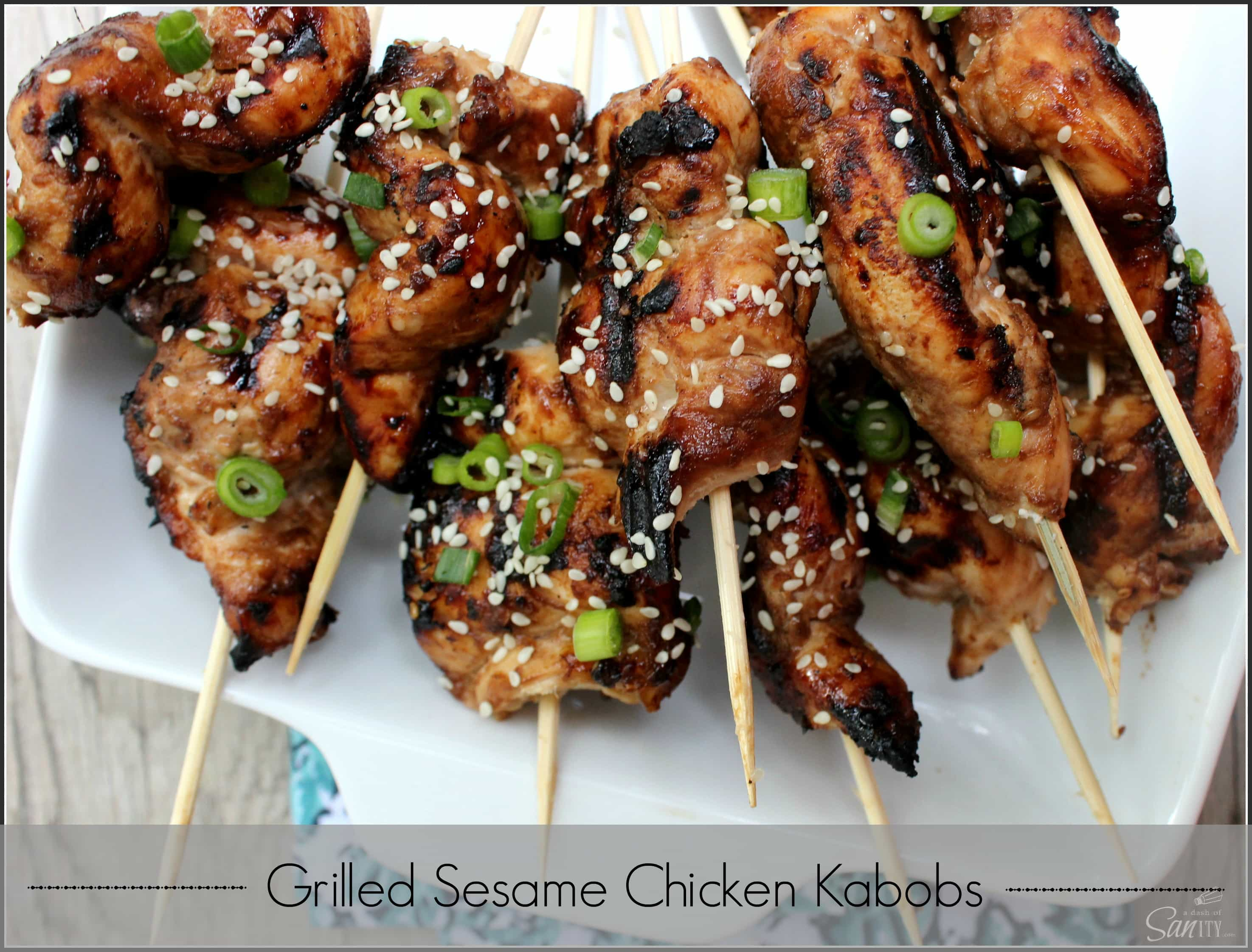 Grilled Sesame Chicken Kabobs | summer of the kabobs