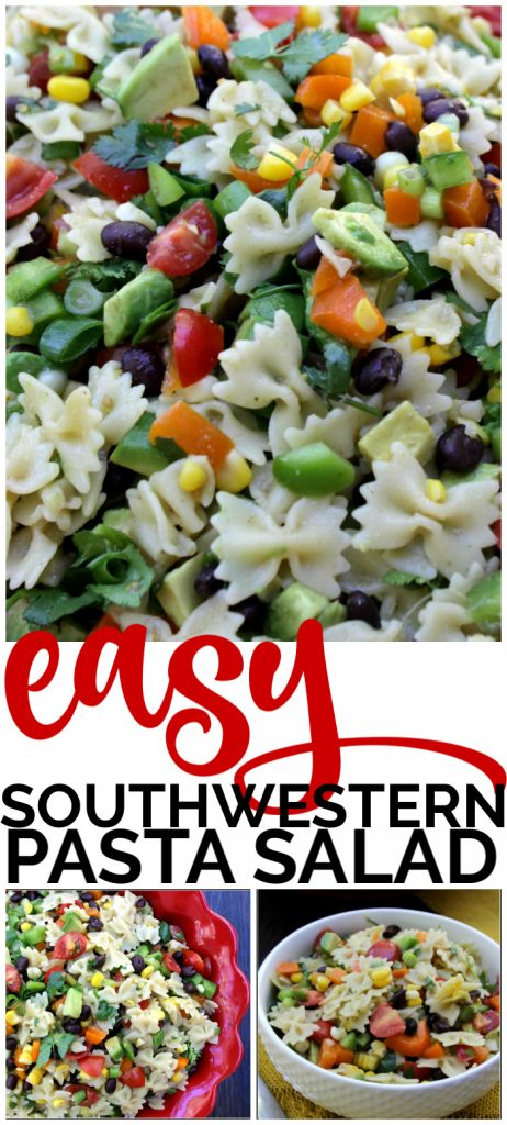 Easy Southwestern Pasta Salad pinterest image (1)