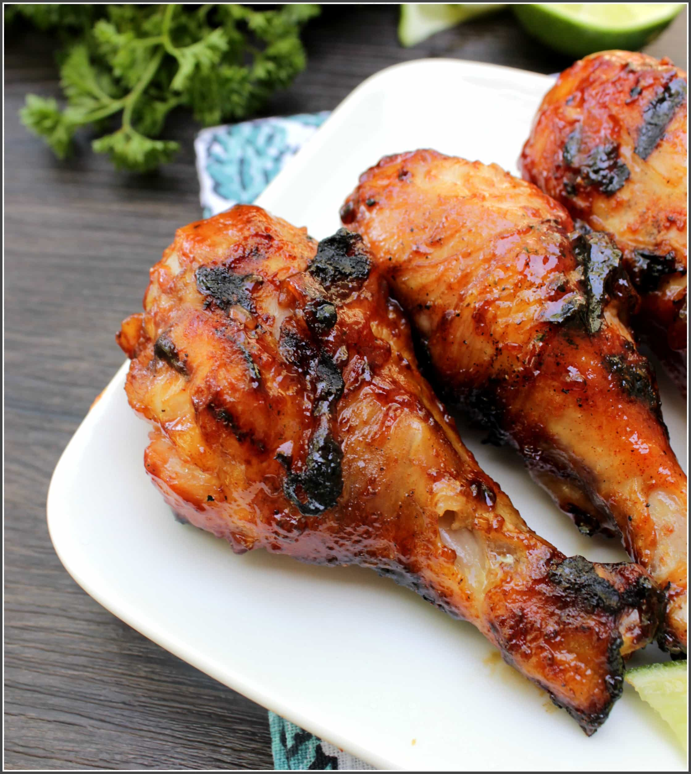 Honey Ginger Barbecue Chicken- with a touch of caramelized sweetness, this takes your traditional barbecue sauce and elevates it to a whole new level.