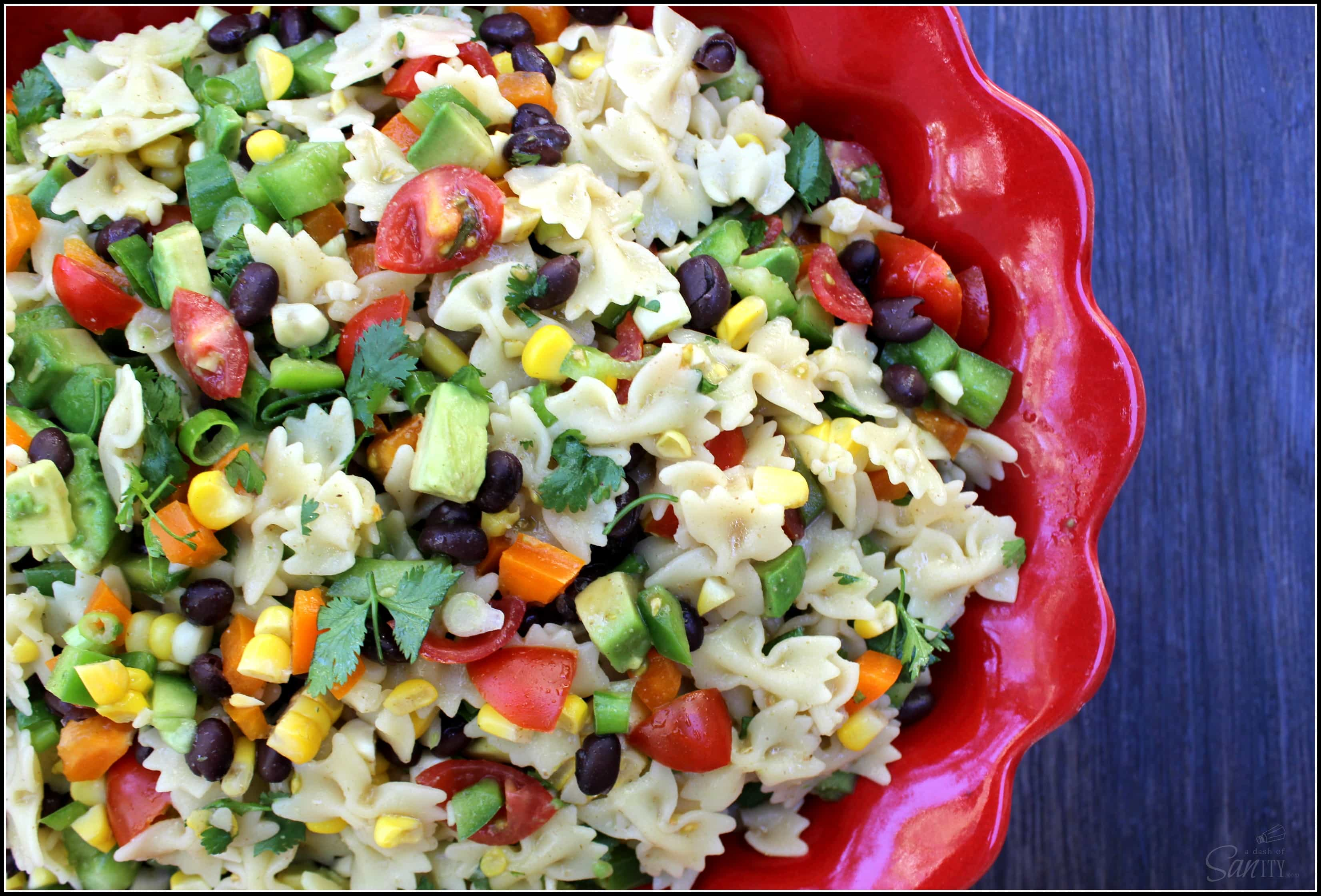 This Easy Southwestern Pasta Salad is light, refreshing, and delicious. Serve as a side dish or add grilled chicken to make this a perfect meal on its own.