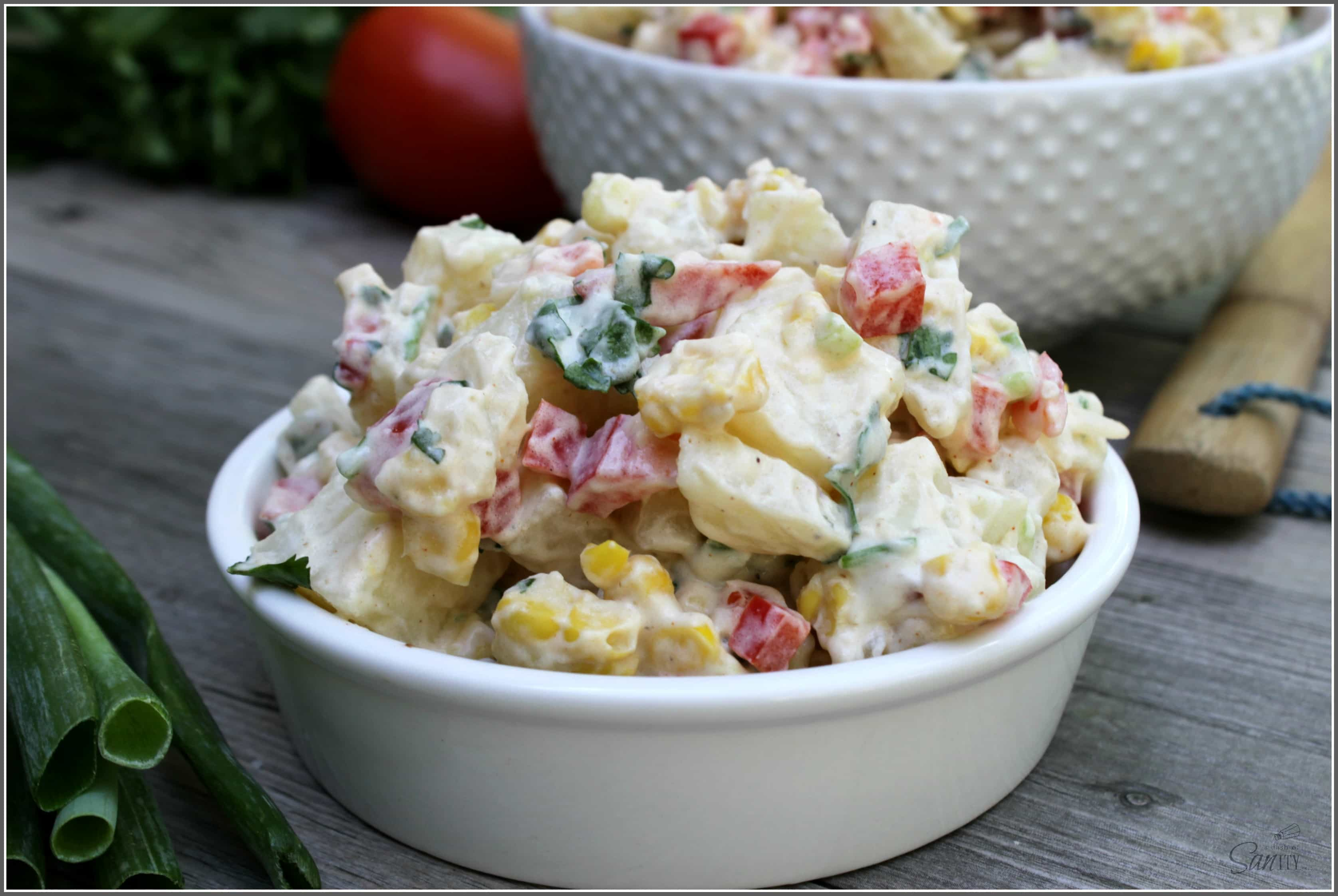 Southwestern Pasta Salad is light and refreshing. Made with fresh veggies and full of flavor, this will convert even those who claim to hate potato salad.