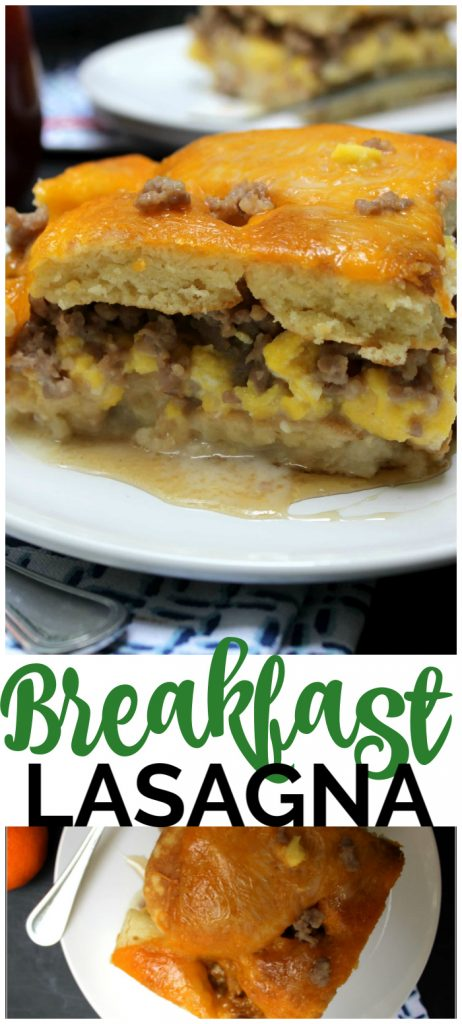 Breakfast Lasagna pinterest image