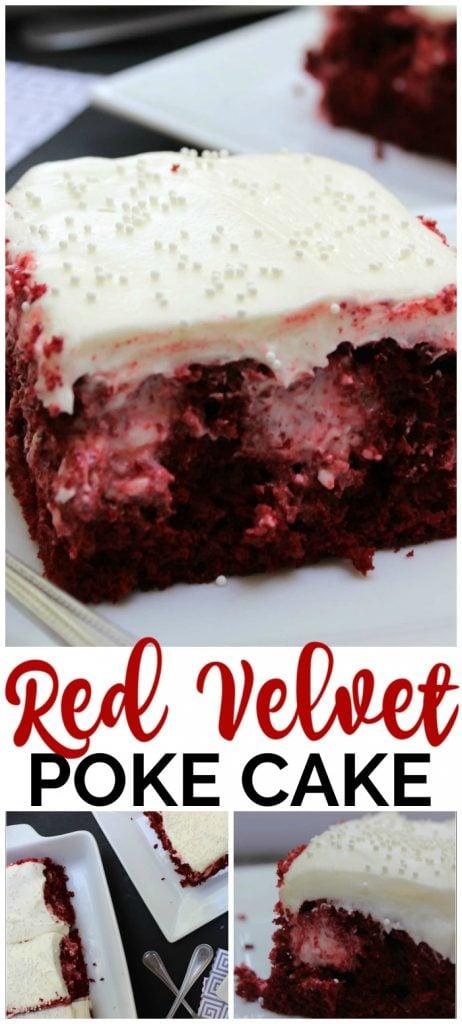 Easy Red Velvet Poke Cake pinterest image
