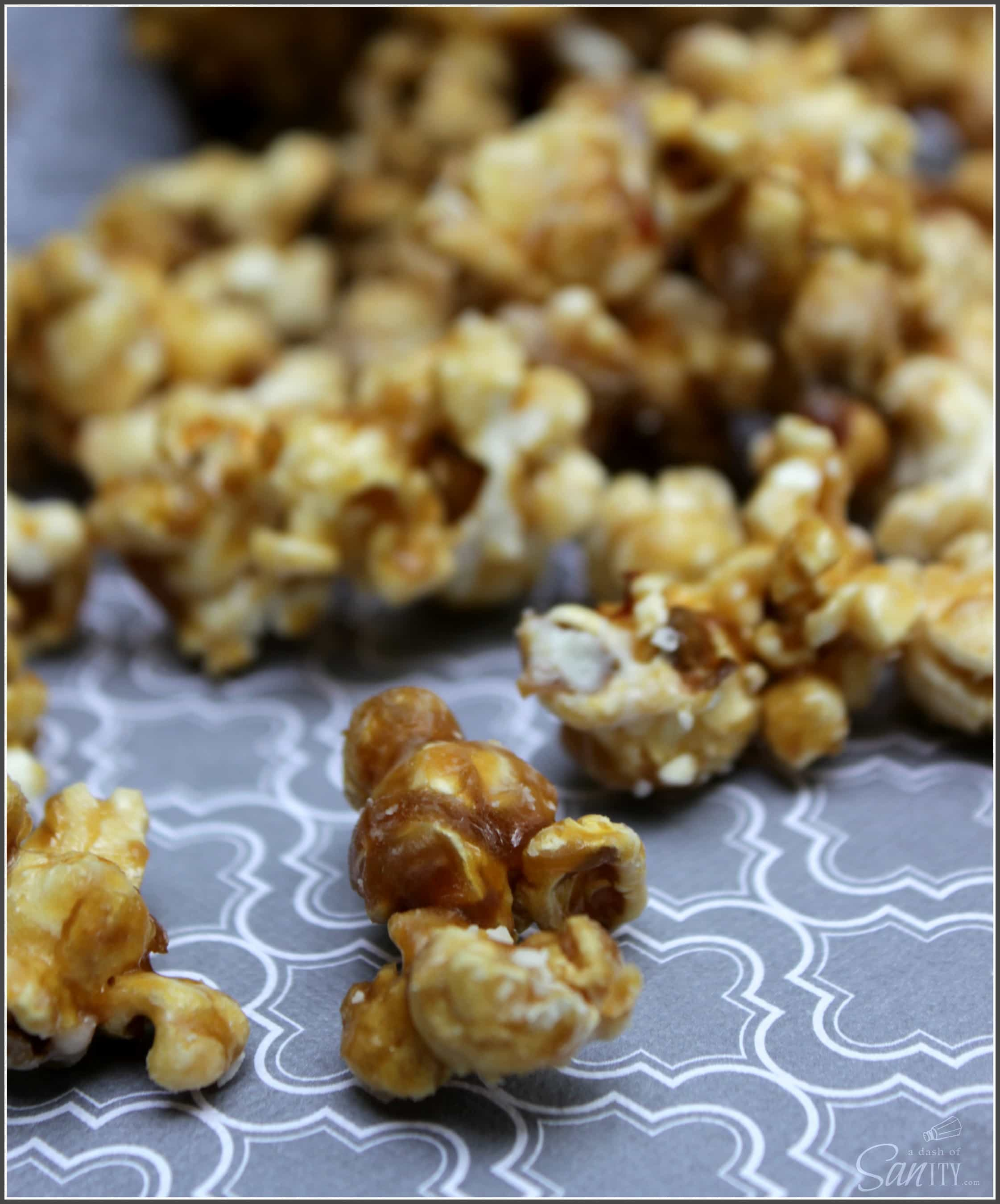 White Chocolate Caramel Corn - A Dash of Sanity